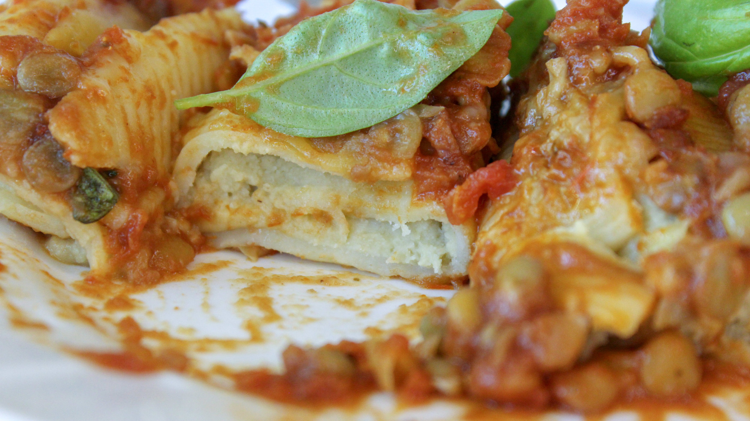 pesto ricotta stuffed shells healthy vegan recipe
