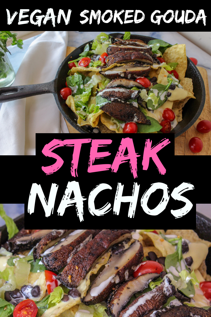 These insanely delicious vegan smoked gouda steak nachos are the perfect party food. Savory and packed full of flavor.