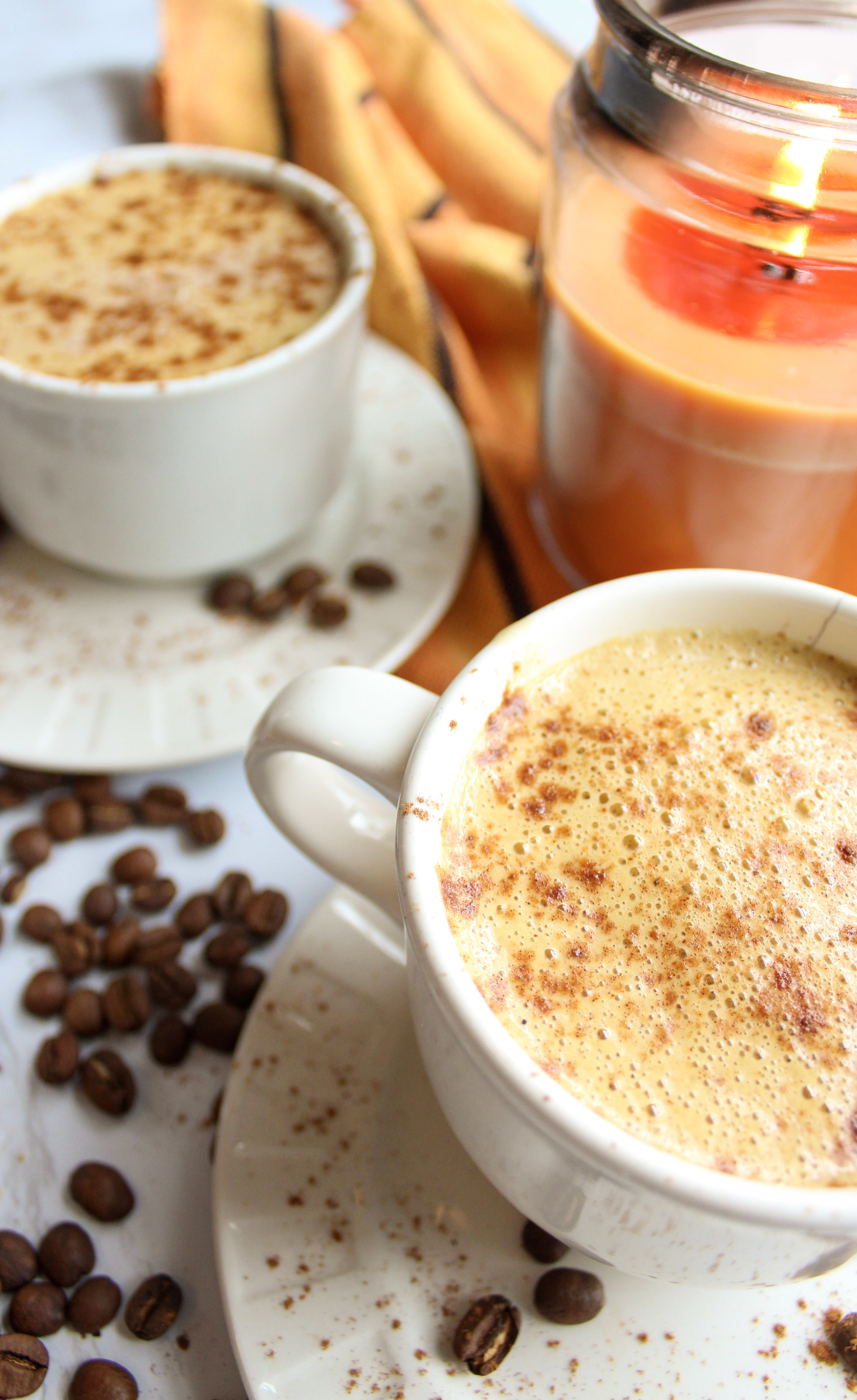 Creamy, easy vegan pumpkin spice latte recipe. How to make starbucks pumpkin spice latte at home. How to make vegan pumpkin spice latte. Made from canned coconut milk. Delicious and easy to make. Perfect vegan cozy fall drink. gluten free and dairy free. Sta #vegan #pumpkinspice #pumpkinspicelatte #veganlatte #dairyfree www.damndeliciousvegan.com