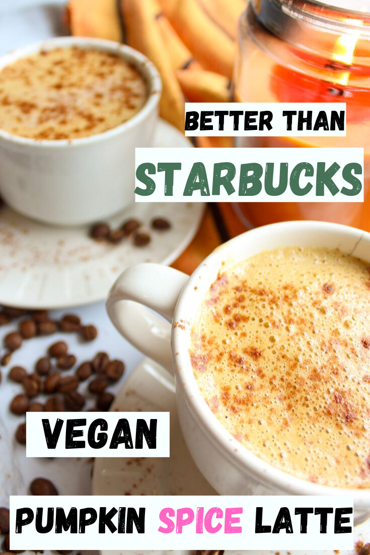 Creamy, easy vegan pumpkin spice latte recipe. Made from canned coconut milk. Delicious and easy to make. Perfect vegan cozy fall drink. Gluten free and dairy free. How to make starbucks pumpkin spice latte at home. How to veganize starbuck's pumpkin spice latte. Better than Starbucks pumpkin spice latte. #pumpkinspice #falldrinks #veganlatte #veganrecipe #pumpkinspicelatte www.damndeliciousvegan.com