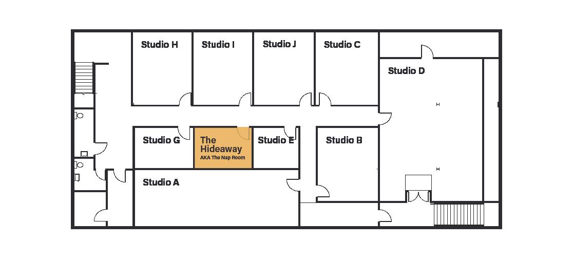 BASEMENT - 220 20TH STREET W    Studio B  - $600/mo + GST on a one-year lease; 282 square feet  Studio C  - $600/mo + GST on a one-year lease; 310 square feet  Studio H  - $600/mo + GST on a one-year lease; 302 square feet  Studio I  - $600/mo + GST on a one-year lease; 302 square feet