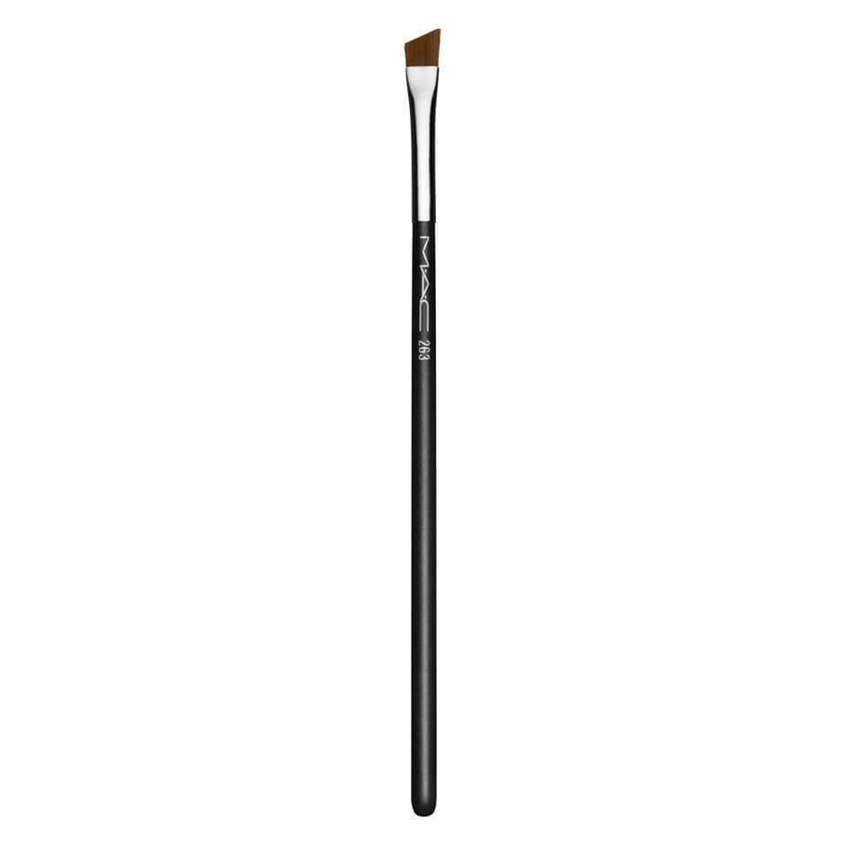 This is a currently available brush:    MAC angled brush from MECCA.