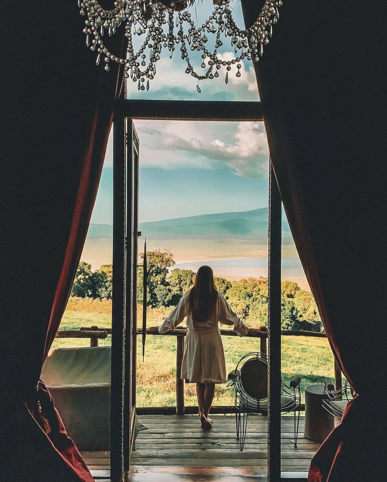 "Claire Trickett @ Ngorongoro Crater Lodge in Tanzania - ""A change in latitude always helps your attitude."" IG:clairetrickett"