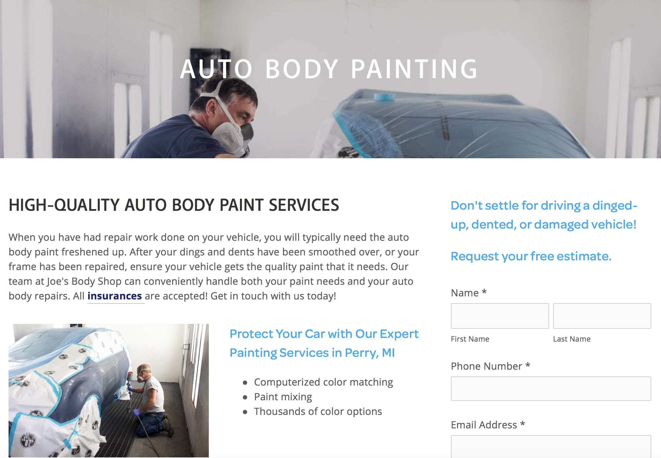 Joes Body - Auto Painting