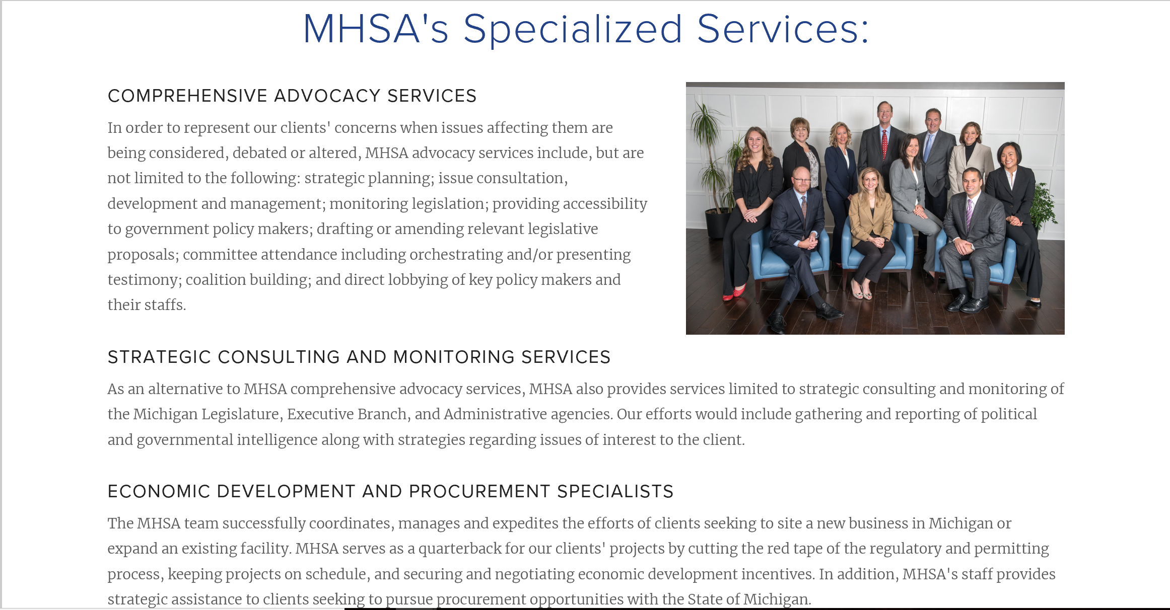 MHSA - Specialized Services