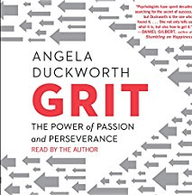 "the secret to outstanding achievement is not talent but a special blend of passion and persistence Angela calls ""grit."" -"