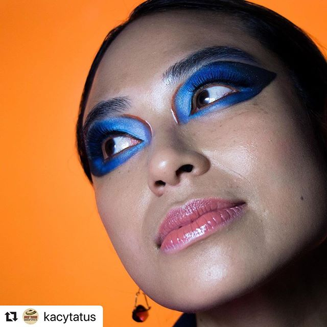 Helped @kacytatus with this fun little shoot over the weekend  #Repost @kacytatus with @make_repost ・・・ MACro look inspired by macro shots of butterflies and other insects.  Model: @cibari Photographer: @allensamuellee Earrings: @averdigris_jewelry @emma_kassel31  Makeup: Me @kacytatus  Mac Products Used  1. Prep + Prime natural radiance base  2. Paint pot - Painterly  3. Eyeshadows - In the shadows, Bang On Blue, Tilt, Sky Blue, Rule, Beauty Marked & Carbon. 4. Face + Body C4 5. Lipglass- Elemental Forces 6. Prep + Prime Fix+ Shimmer Gold 7. Strobe Cream Gold  #maccosmetics #imgoingtoclass, @imgoingtoclass, @ericacarr, @maccosmetics,#macproandclass #MACroPRO.