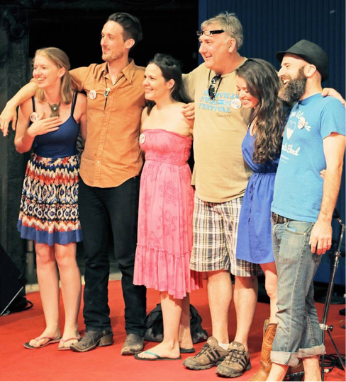 Left to Right: Rachel Laven, Ben De La Cor, Addie Brownlee, Joe Shields, Emily Scott Robinson and Justin Farren