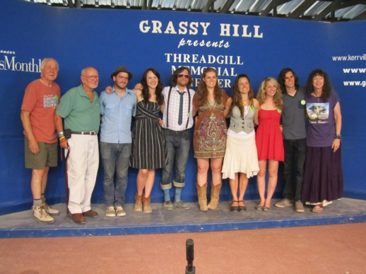 2011 Winners with Dalis, Rod and Steve (Left to Right: Steve, Rod, David, Grace, A.J., Megan, Mai, Cassie, Doug (Cassie's Accompanist) and Dalis)
