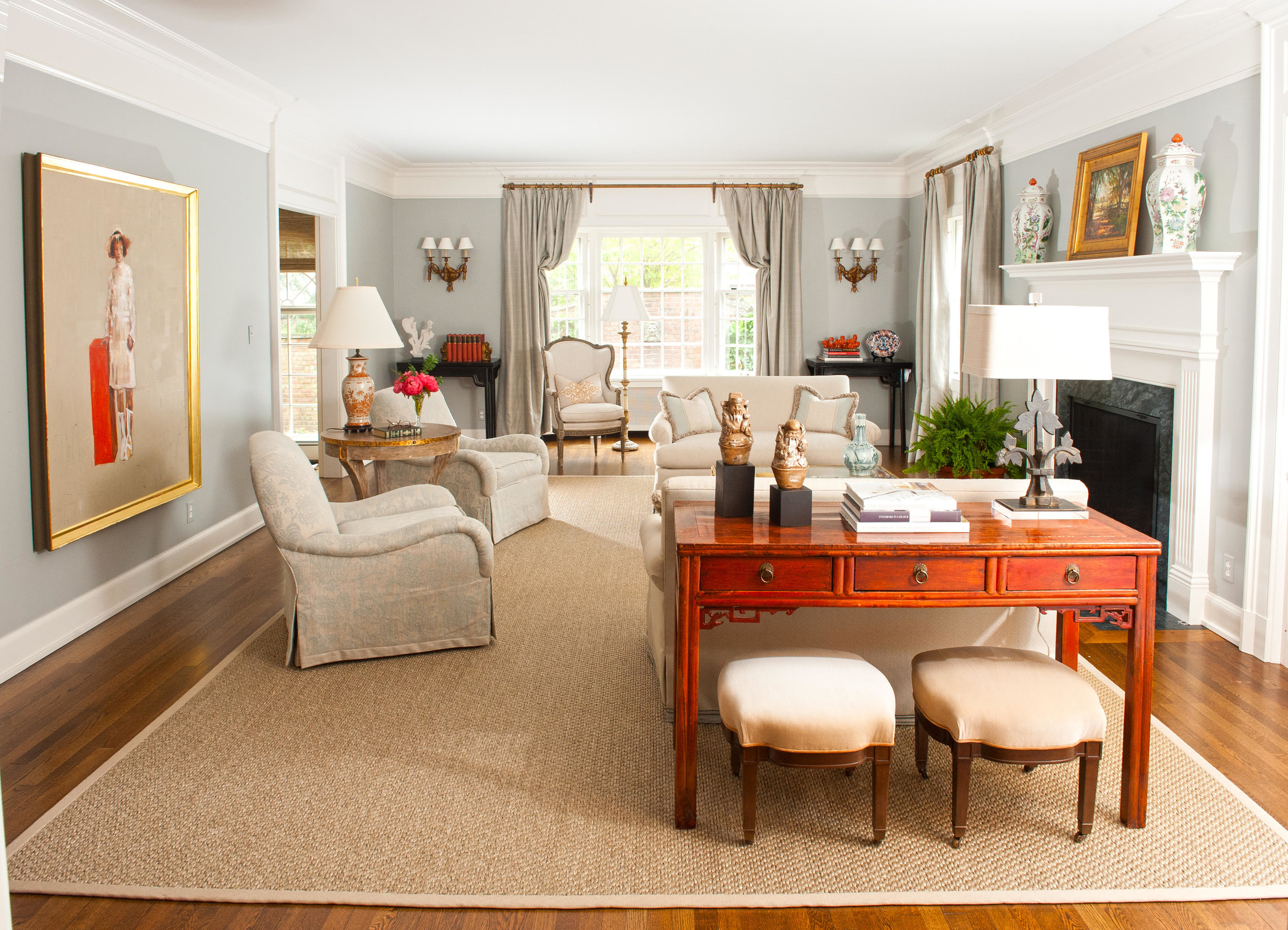 orange and neutral room