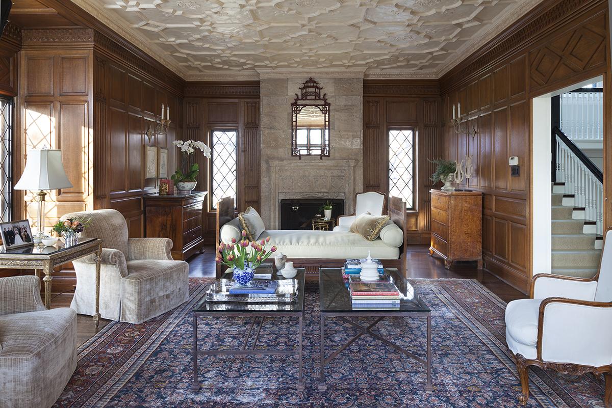 living room traditional interior design
