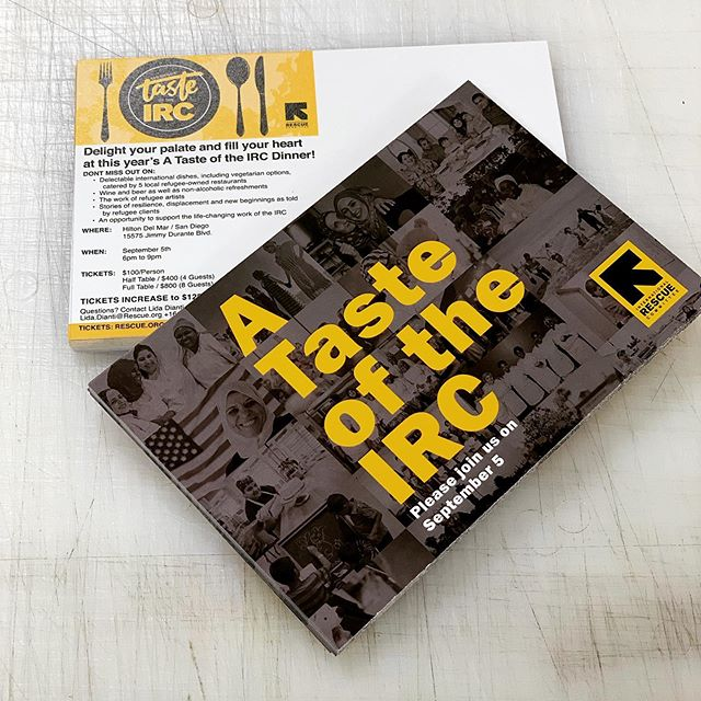 We had the opportunity to print some postcards for one of our favorite organizations @theirc for their Taste of the IRC event on September 5th. Check them out!