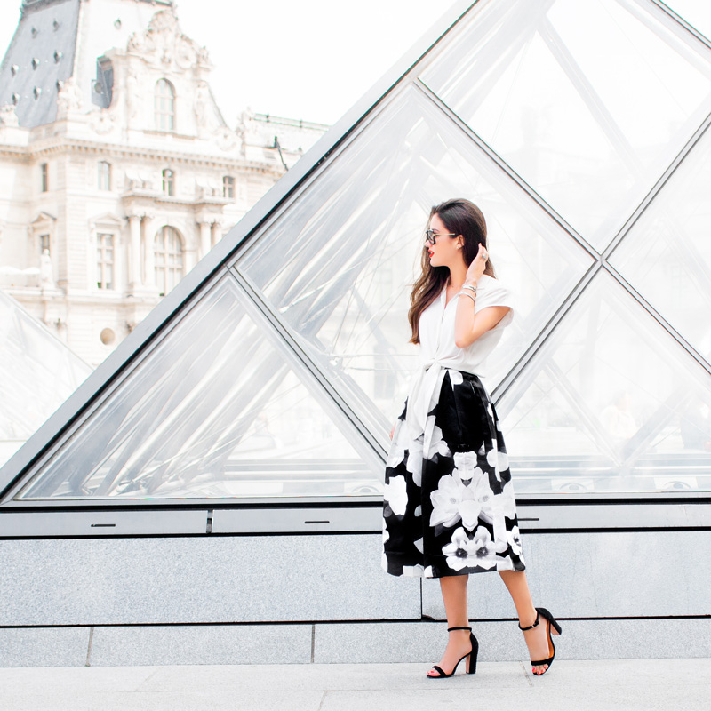Fashionable Girl at the Louvre
