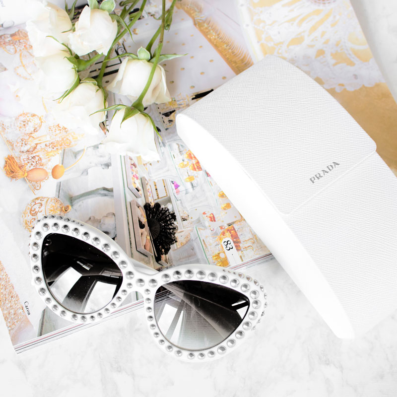 Prada Absolute Ornate Cat Eye Sunglasses
