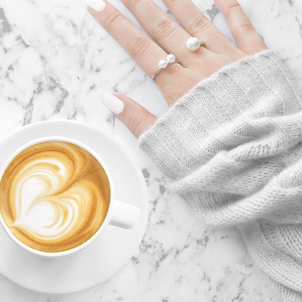 5 Fashionable Fall Items to Try Right Now Wanderlust and Co Triple-Pearl Wave Silver Ring