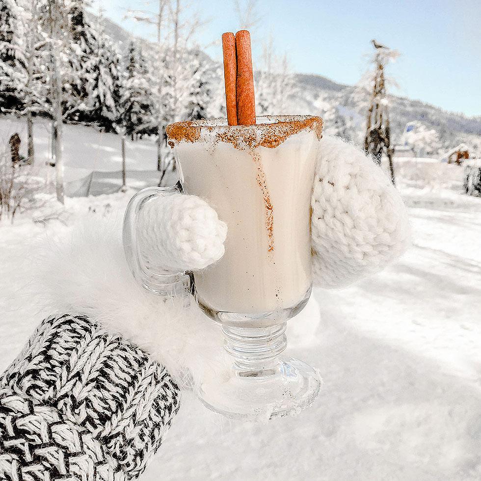 Apres Ski drink in snow whistler Canada
