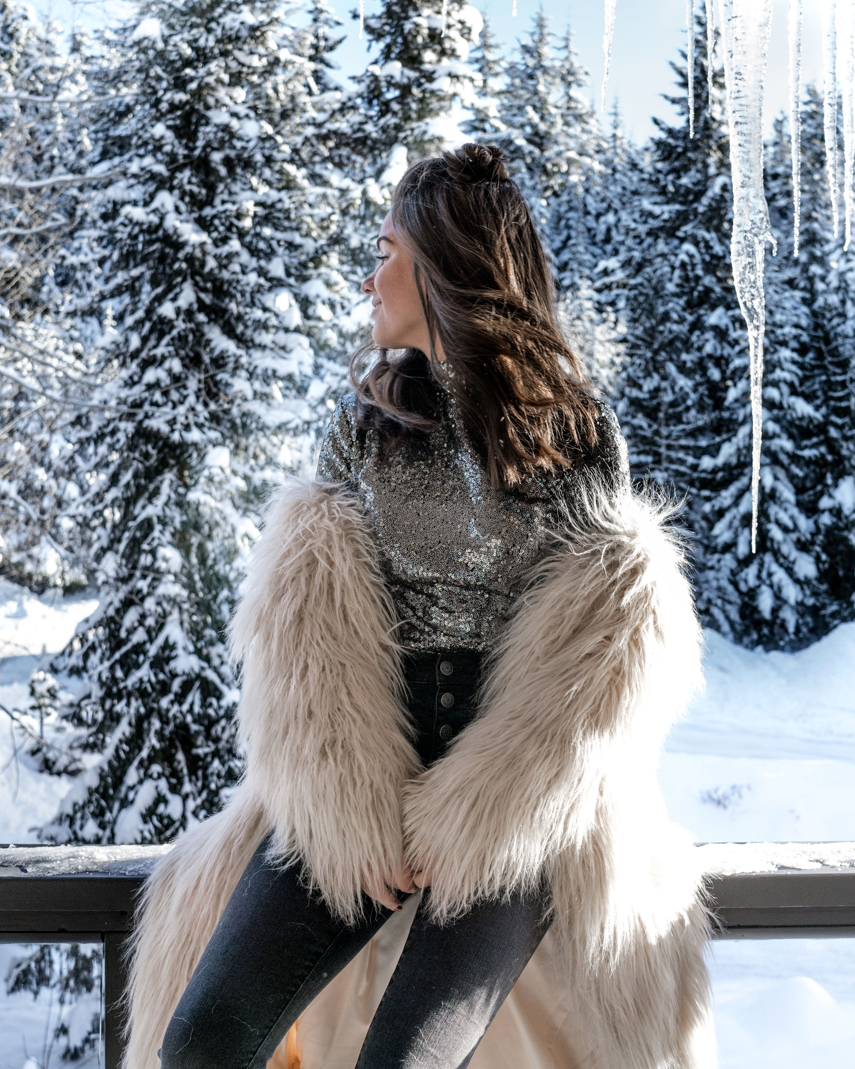 new years eve snow sequin fur outfit whistler1.jpg