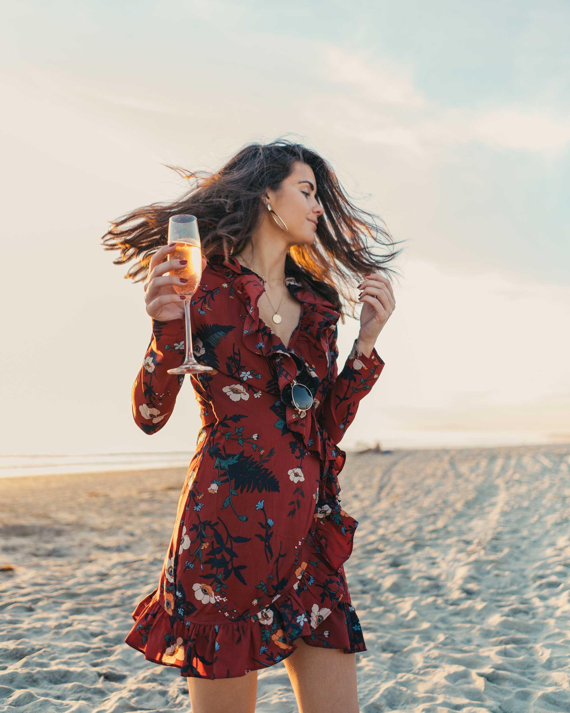 BURGUNDY-FLORAL-FRILL-WRAP-MINI-DRESS-Newport-Beach-California-Summer-Dress-4.jpg