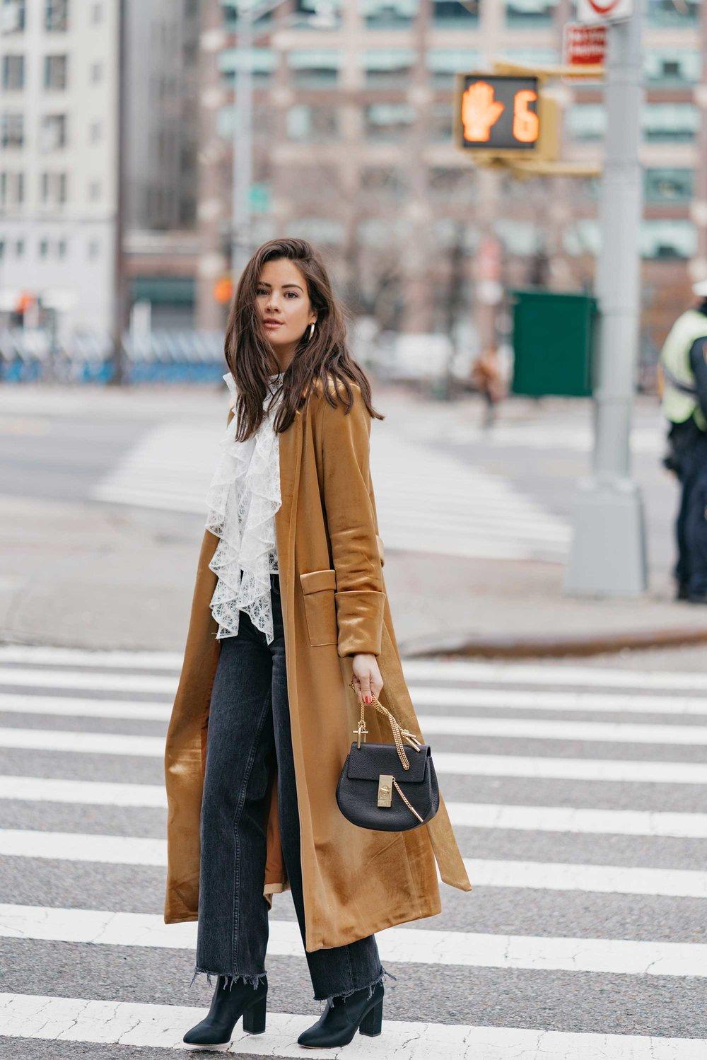 Gold Velvet Trench Coat Sarah Christine, Velvet Trench Coat For Ladies