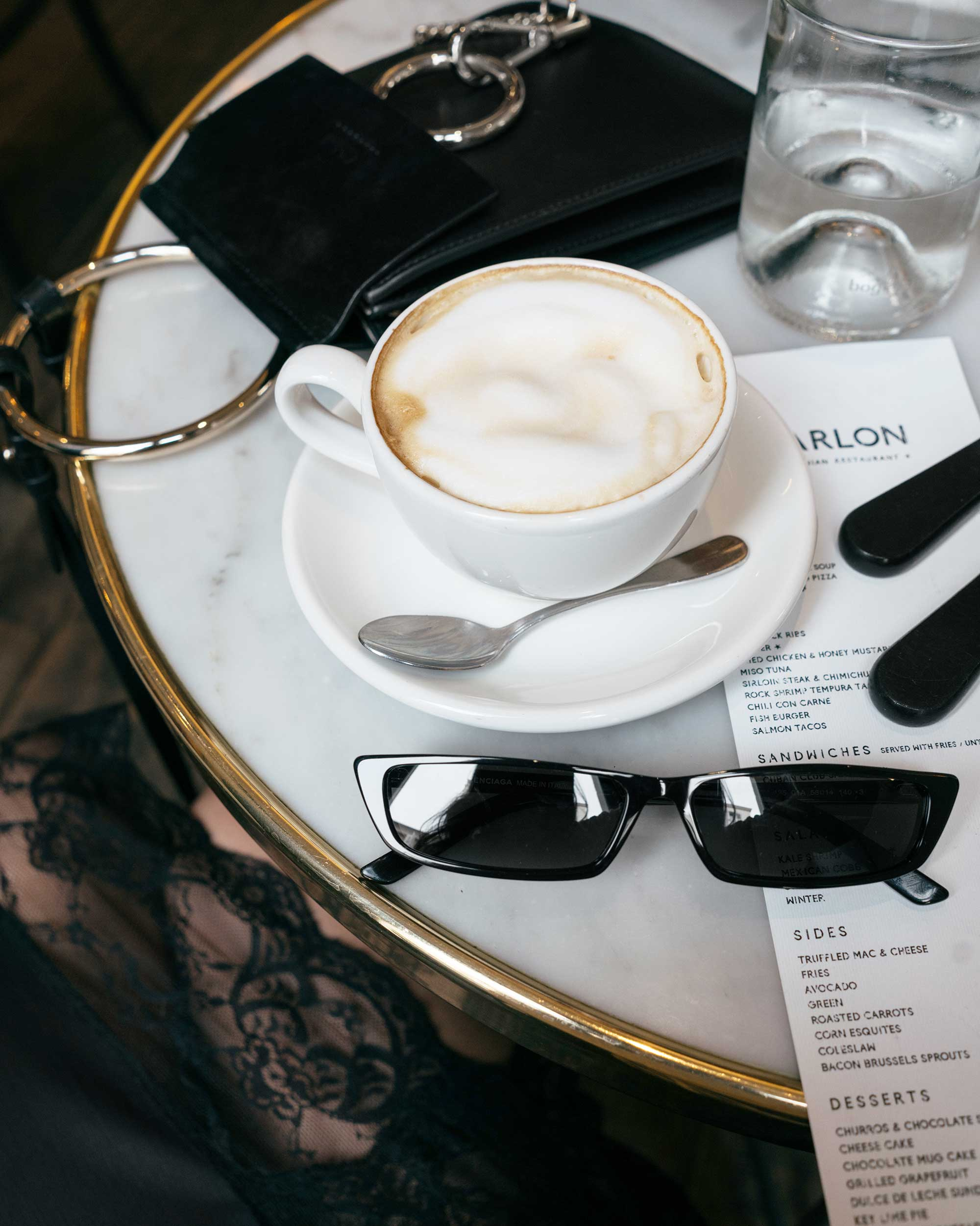 Latte, Balenciaga Sunglasses, Chloé Mini Faye Bracelet Bag2.jpg
