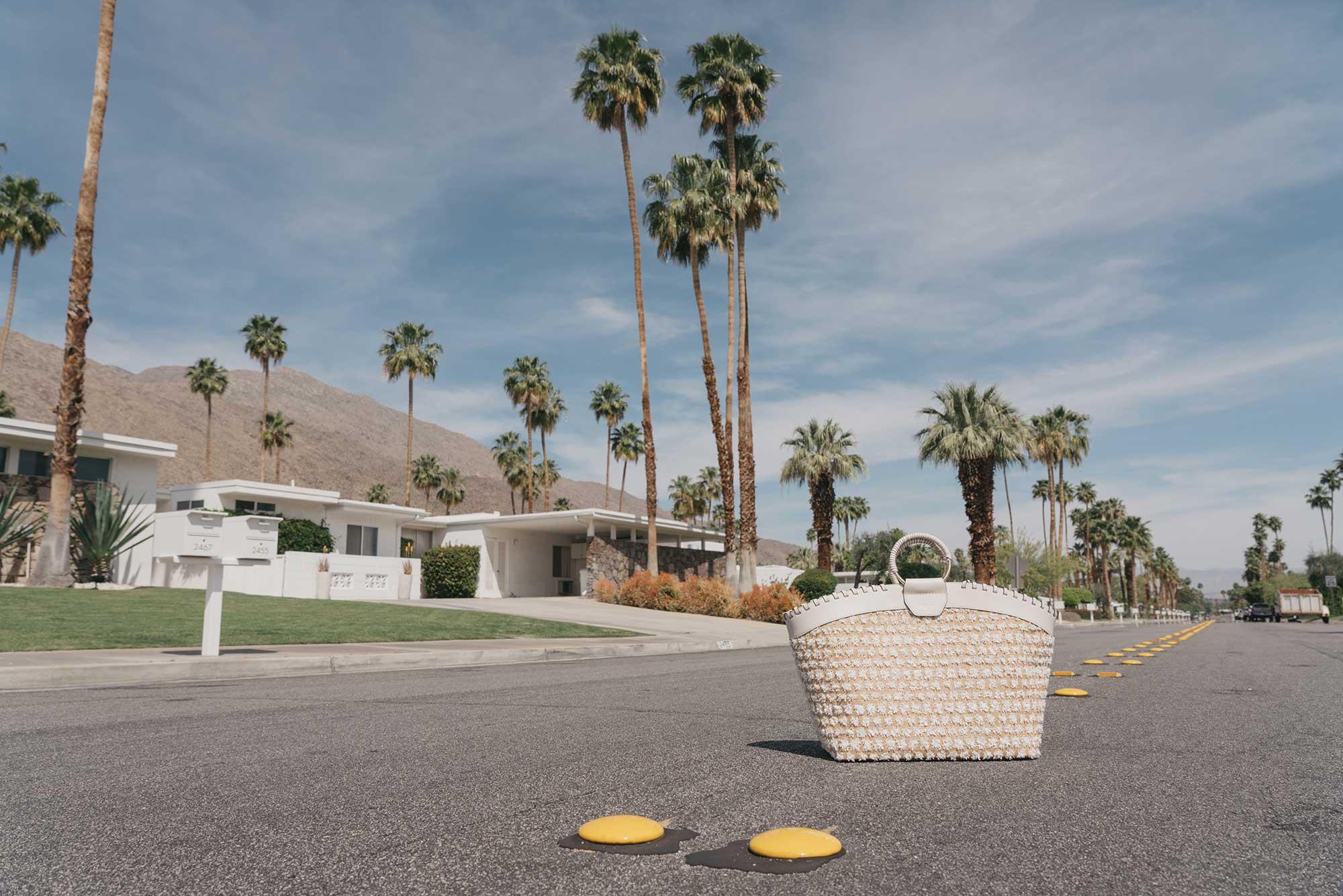 Cynthia Rowley Short sleeve cotton ruffle wrap dress Palm Springs Outfit6.jpg