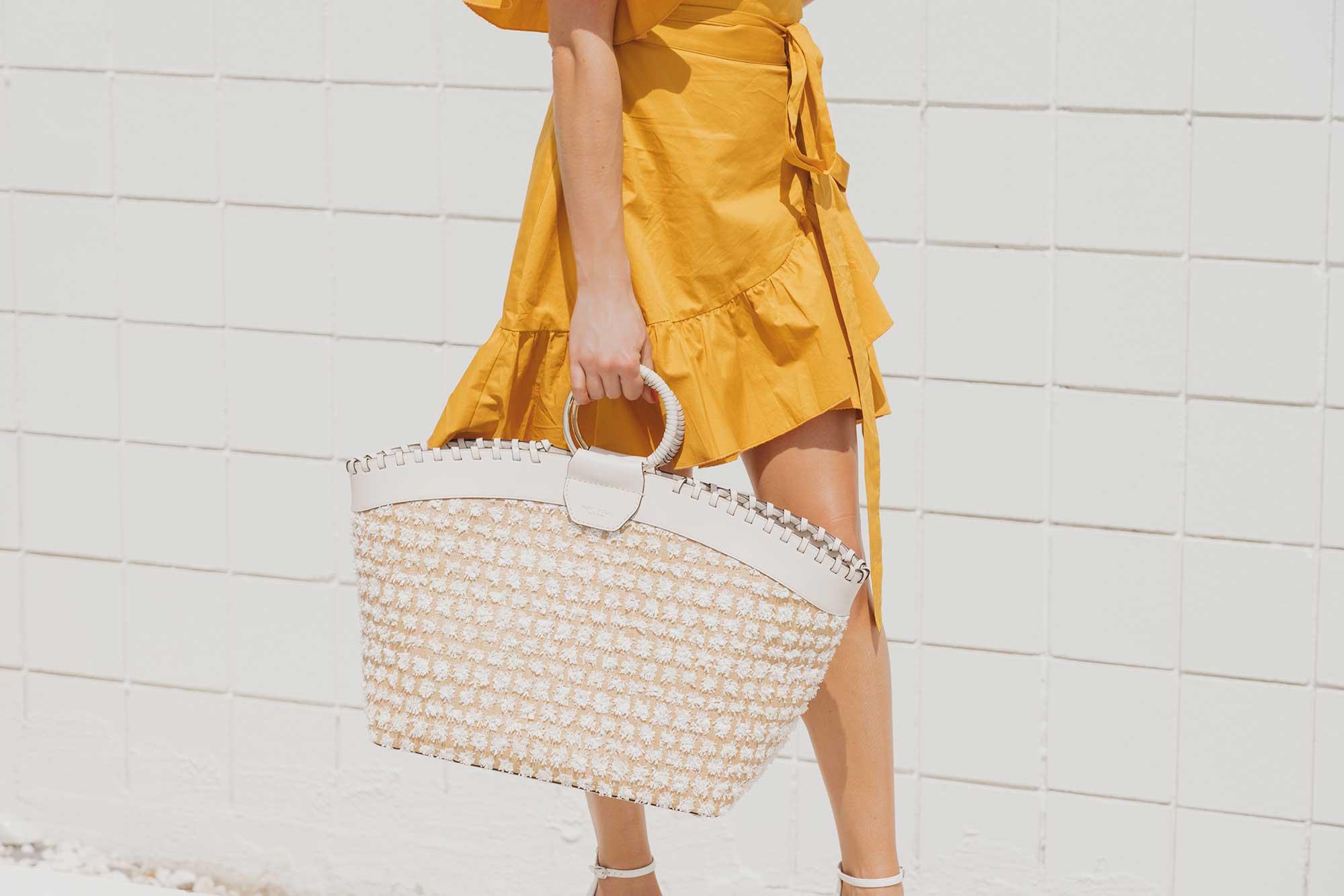 Cynthia Rowley Short sleeve cotton ruffle wrap dress Palm Springs Outfit10.jpg