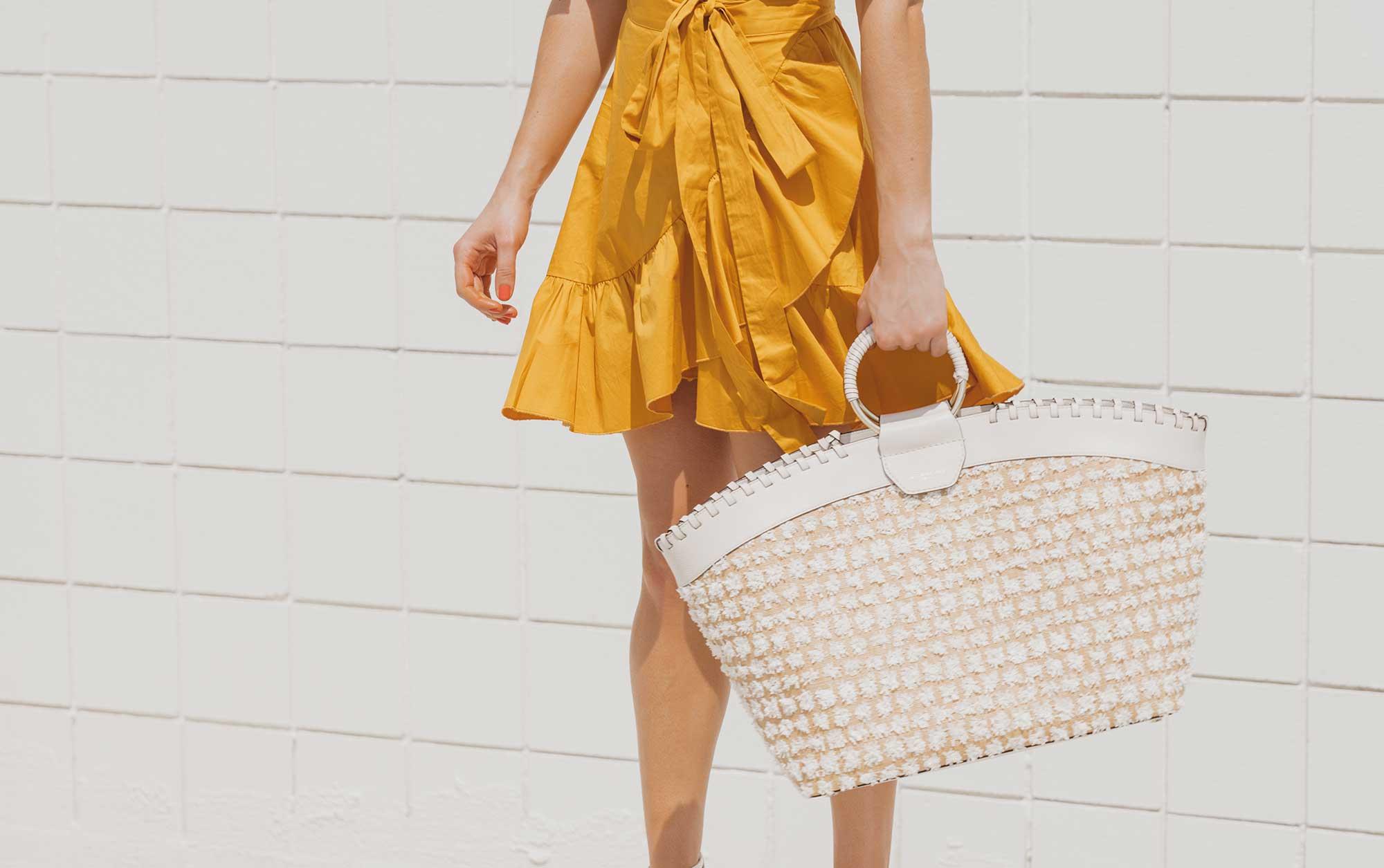 Cynthia Rowley Short sleeve cotton ruffle wrap dress Palm Springs Outfit11.jpg