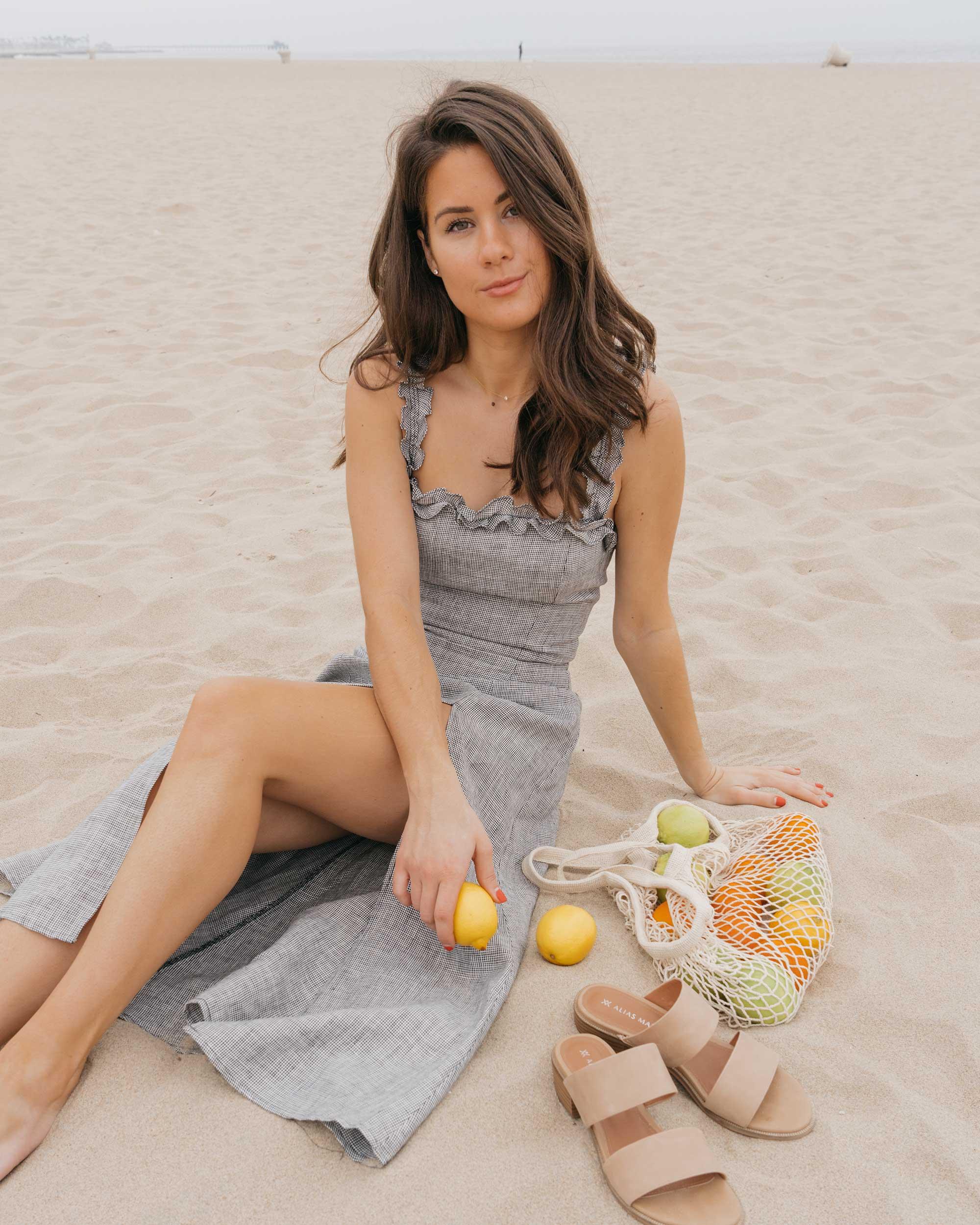 Reformation Lavendar Midi Dress Cotton Net Shopping Tote Newport Beach California Summer Outfit5.jpg