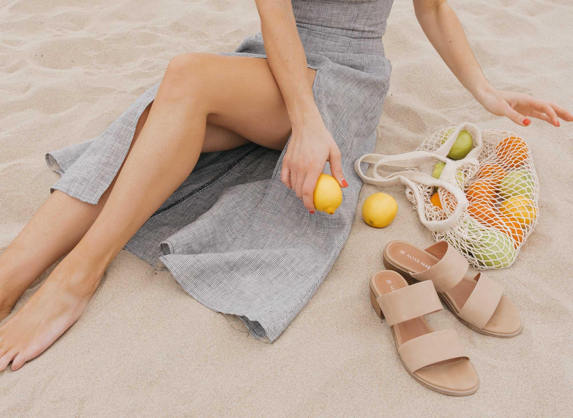 Reformation Lavendar Midi Dress Cotton Net Shopping Tote Newport Beach California Summer Outfit4.jpg