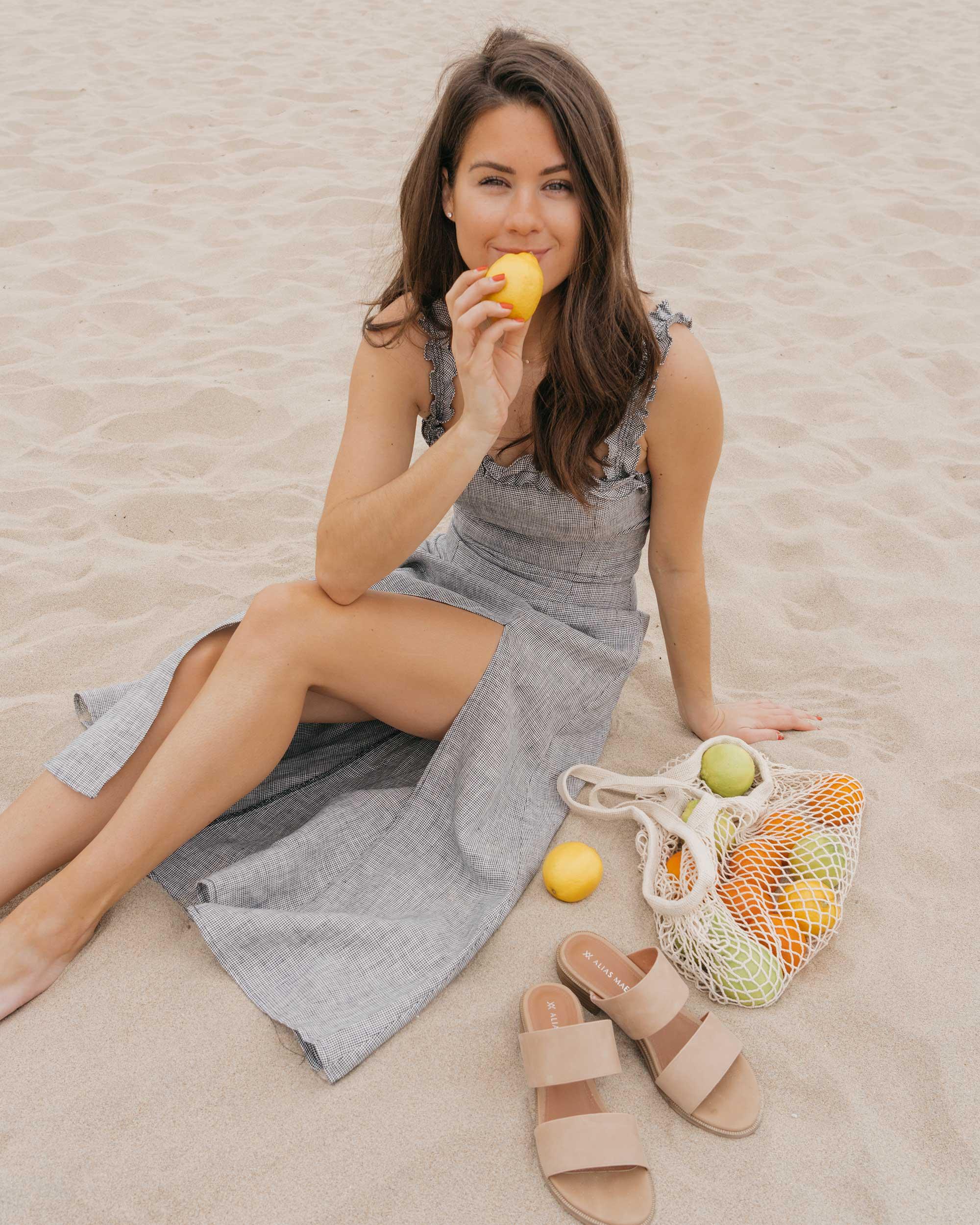 Reformation Lavendar Midi Dress Cotton Net Shopping Tote Newport Beach California Summer Outfit8.jpg