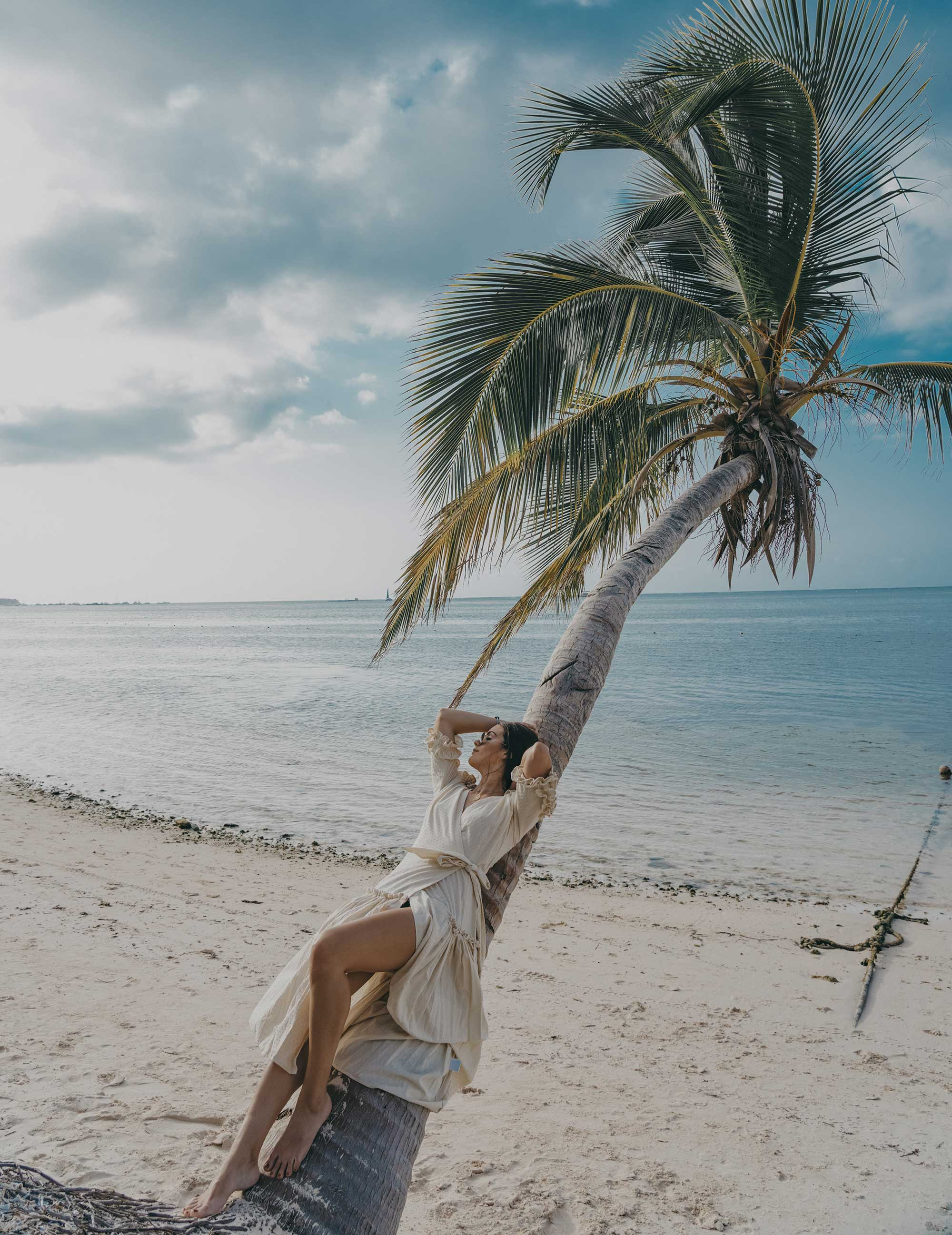 Wrap Dress with Ruffles Dominican Republic vacation getaway outfit2.jpg