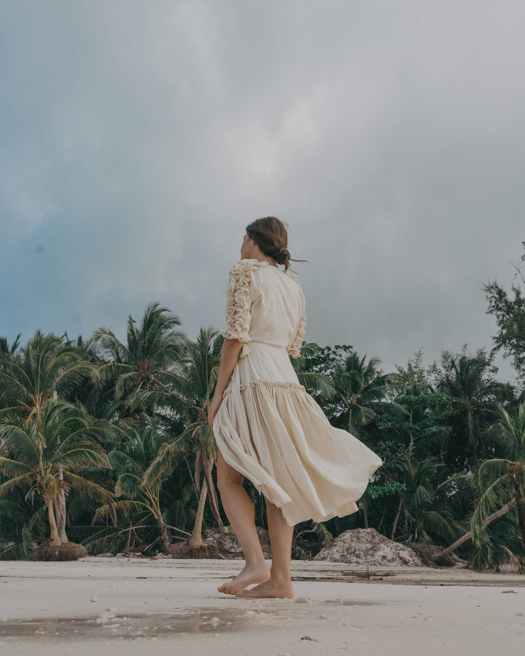 Wrap Dress with Ruffles Dominican Republic vacation getaway outfit28.jpg