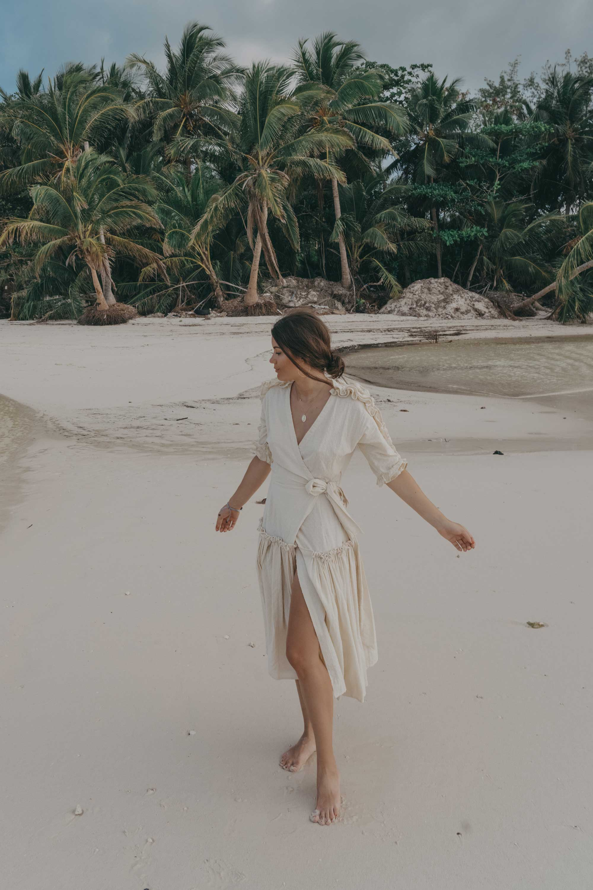 Wrap Dress with Ruffles Dominican Republic vacation getaway outfit24.jpg
