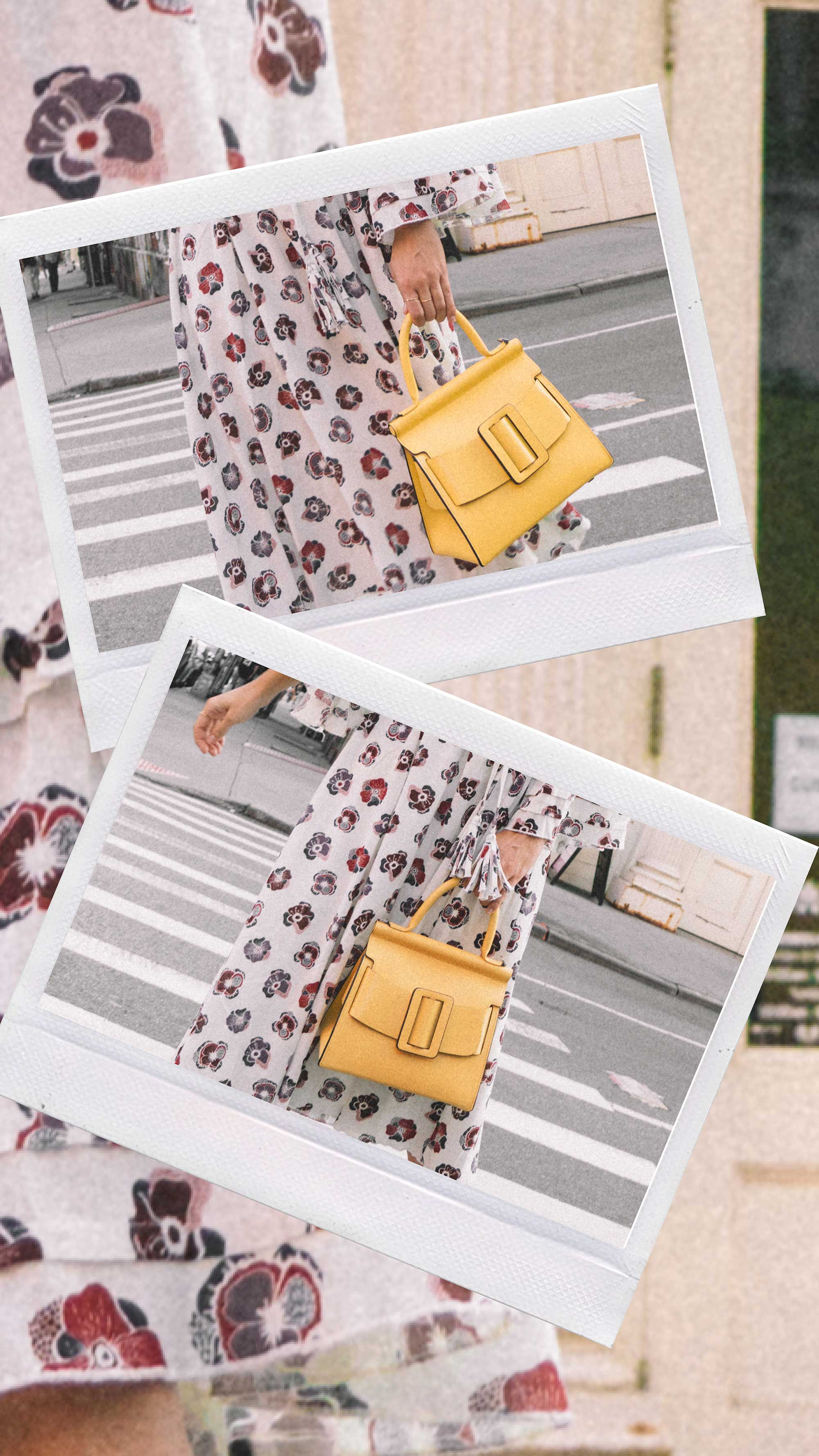 Madewell x Karen Walker Floral Fantasia Ruffled Dress and BOYY Karl 24 Bag soho new york fashion week outfit13.jpg