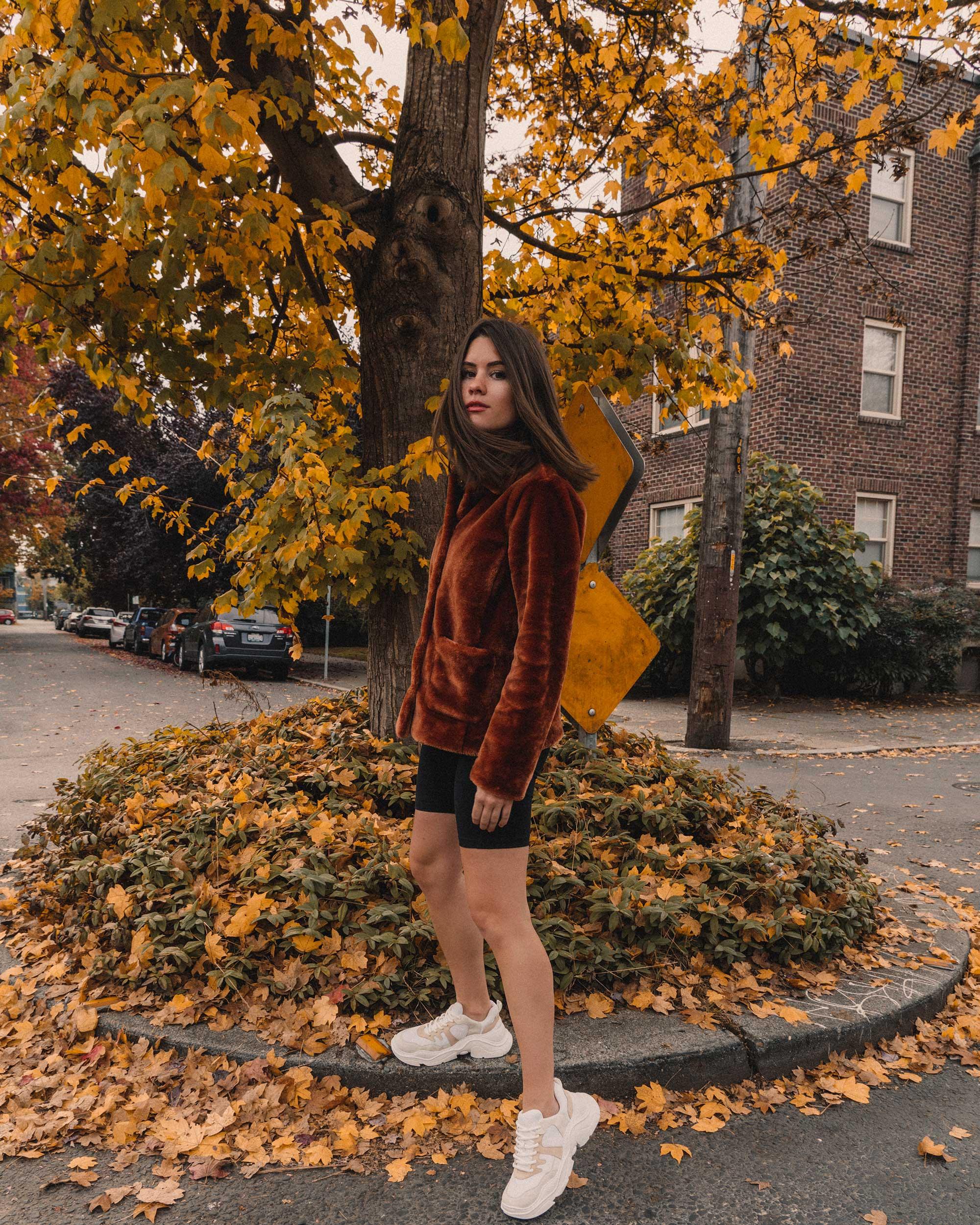Rebecca Taylor FAUX FUR COAT in rust, fall outfit, Schutz Shoes Jackye Chunky Sneaker2.jpg