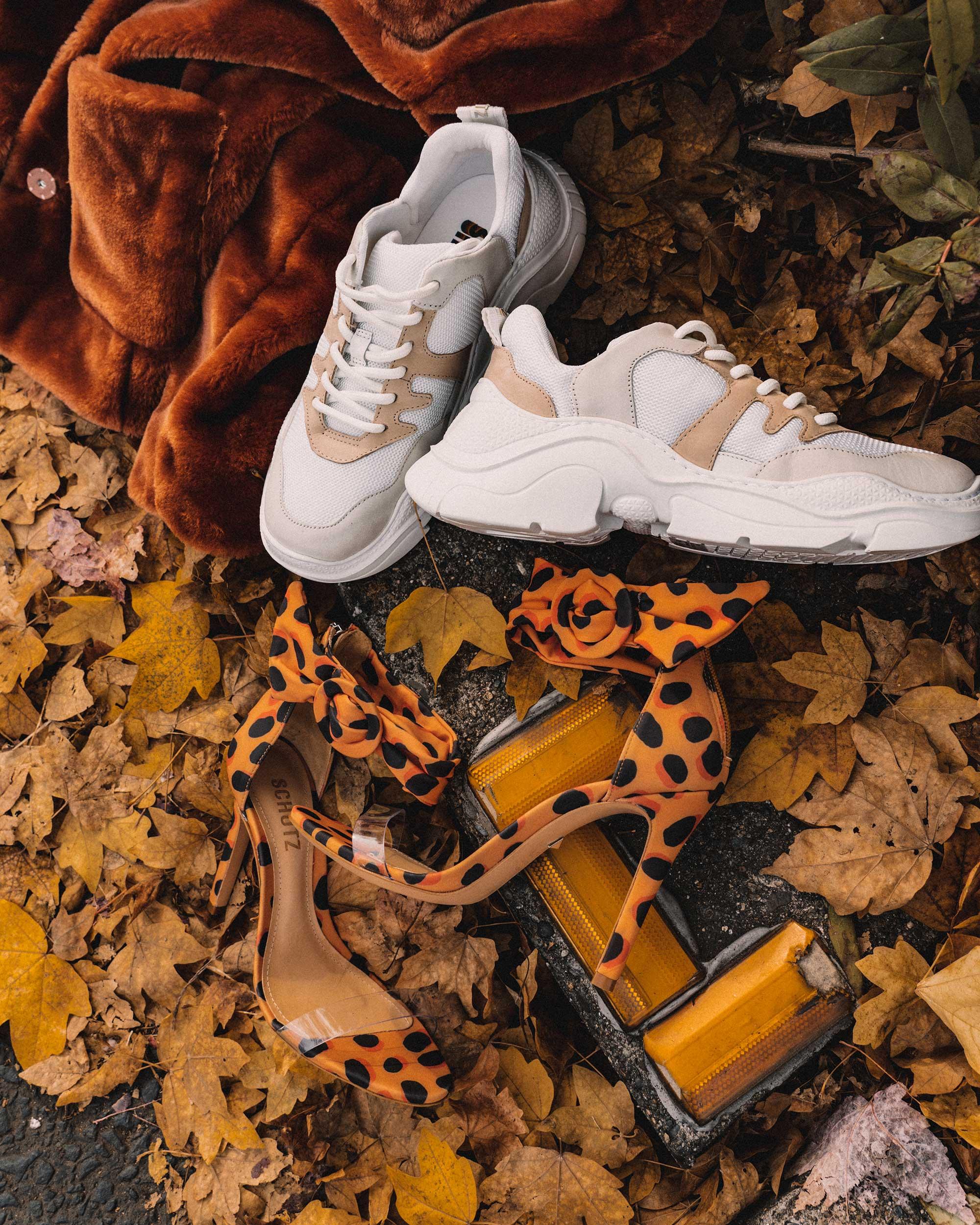 Schutz Shoes Jackye Chunky Sneaker and Schutz Shoes S-Vall High Heel Wild Dot Leopar Print Sandals .jpg