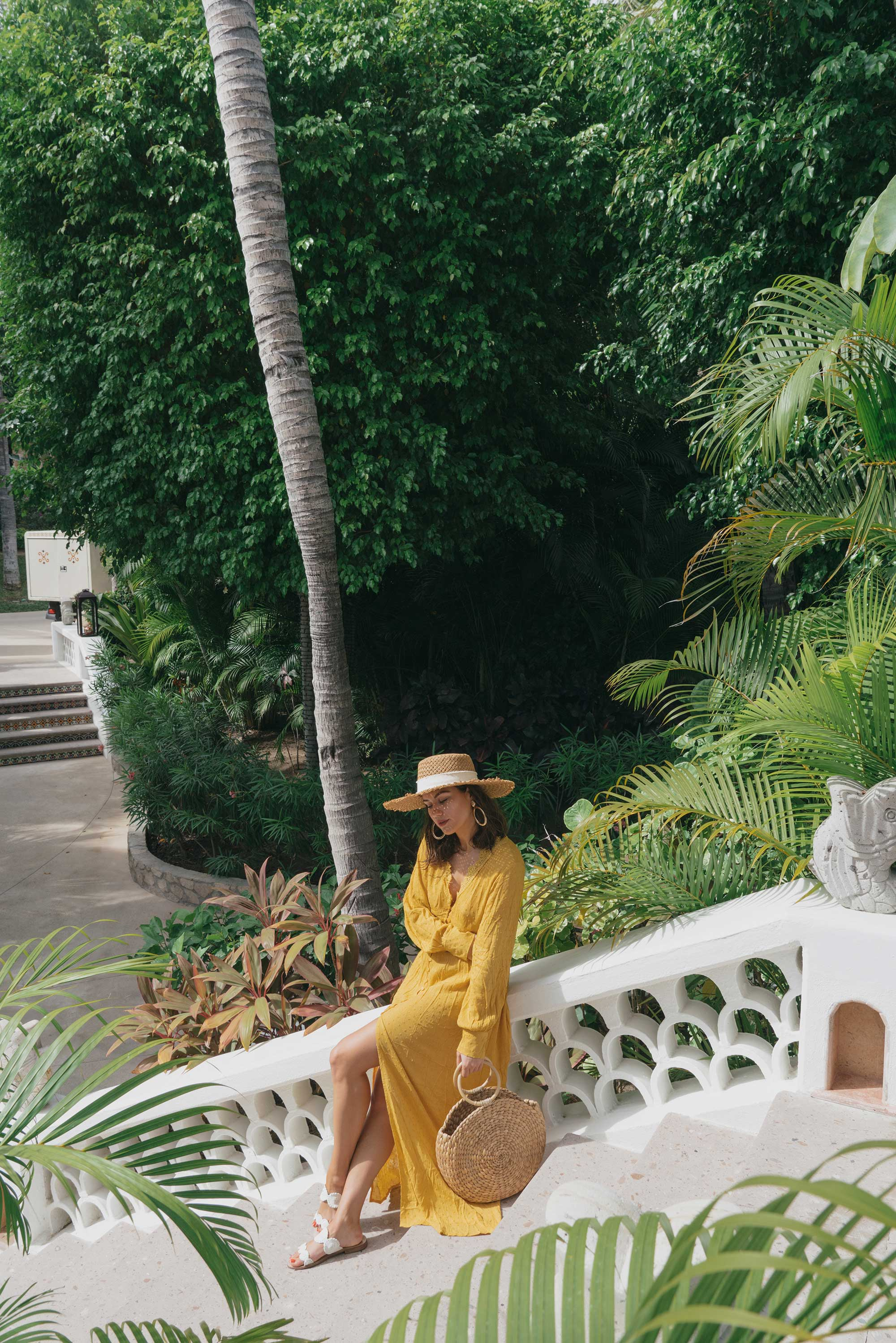 yellow button-down crochet maxi dress One and Only Palmilla in Los Cabos Mexico7.jpg