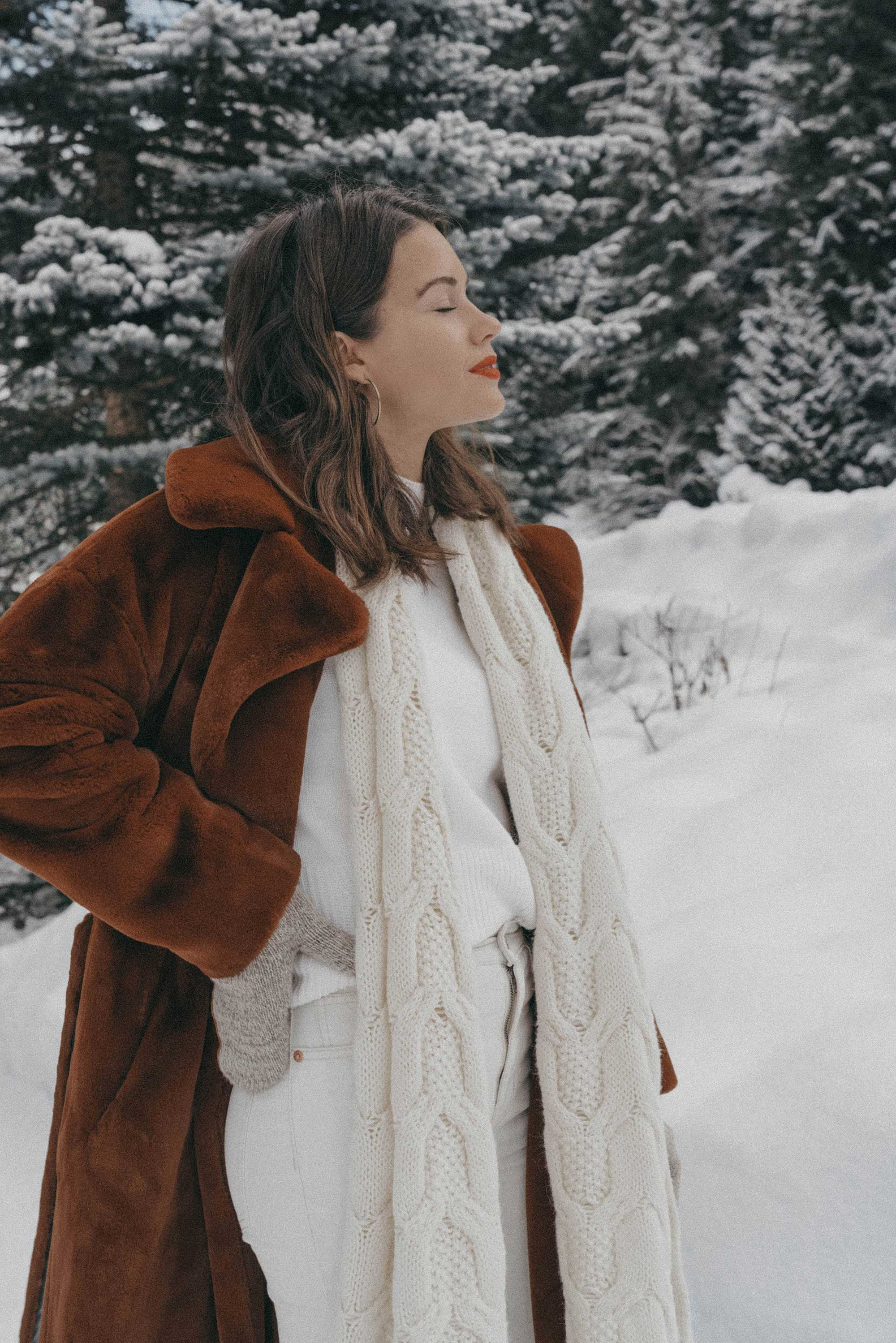Whistler snow travel outfit brown faux fur coat-4.jpg