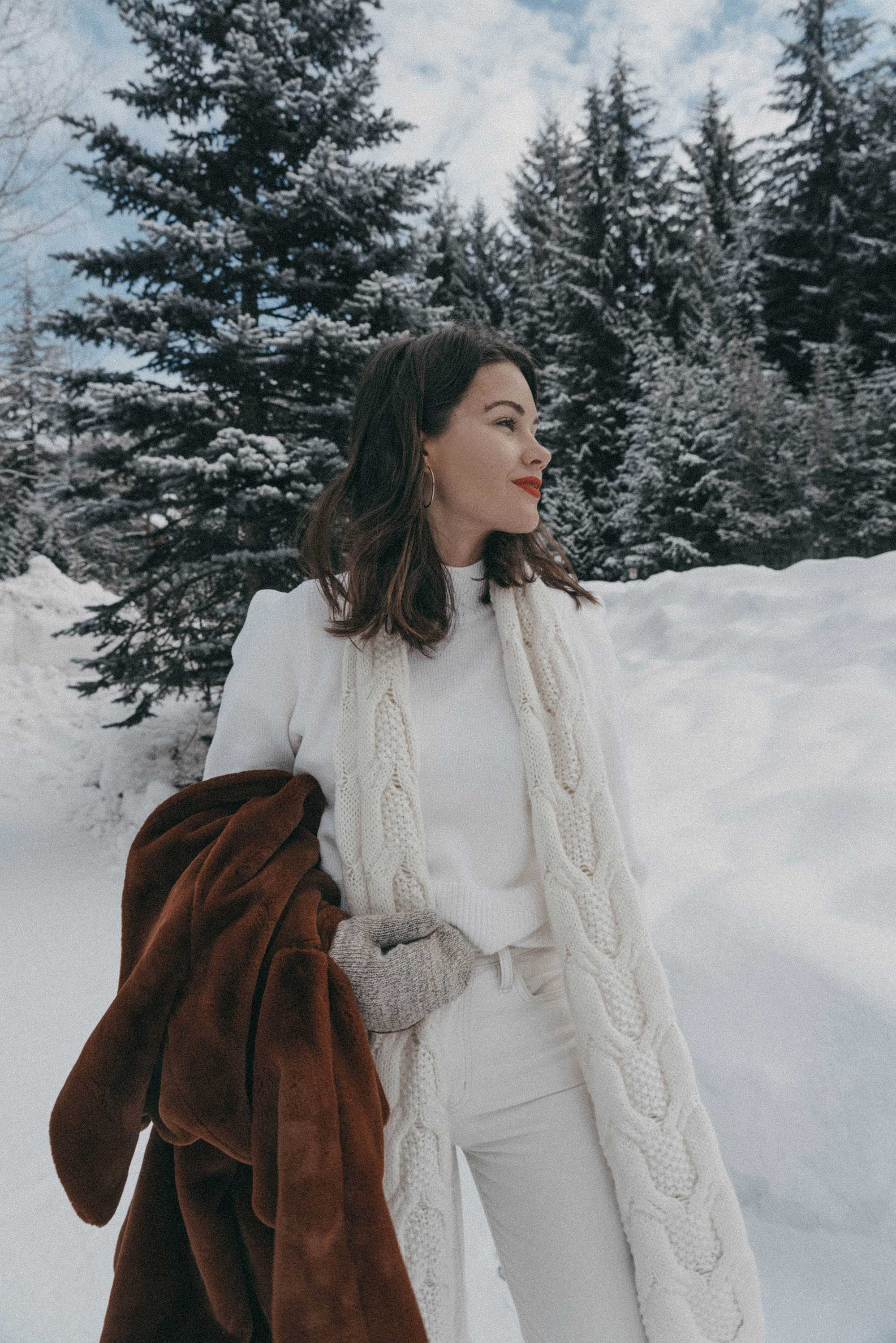 Whistler snow travel outfit brown faux fur coat6.jpg