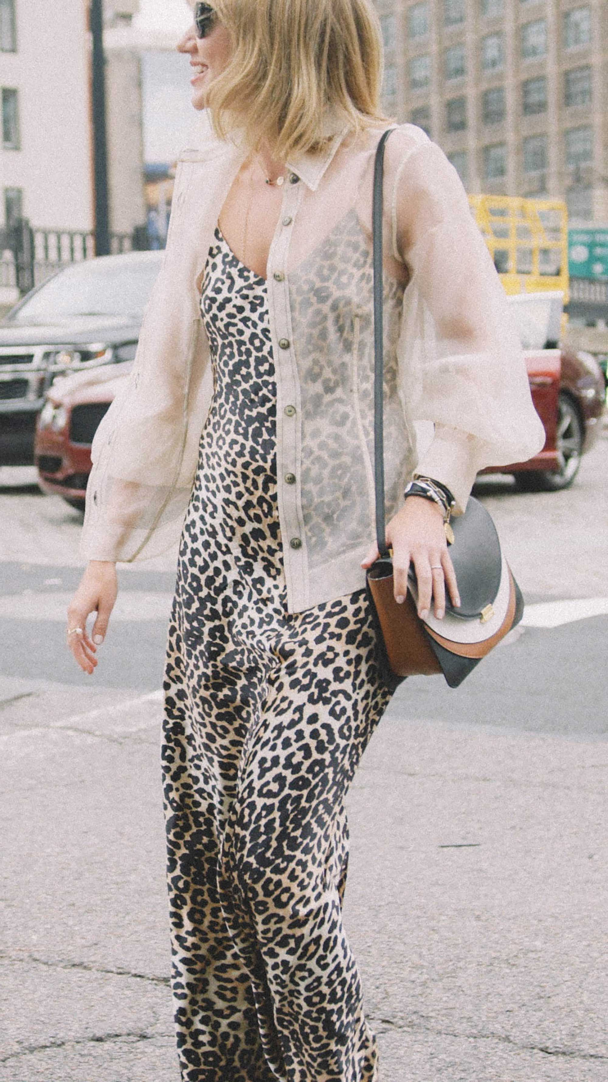 10 Easy Ways to Pull Off Animal Print, leaopard print slip dress, Lisa Aiken street style nyc.jpg