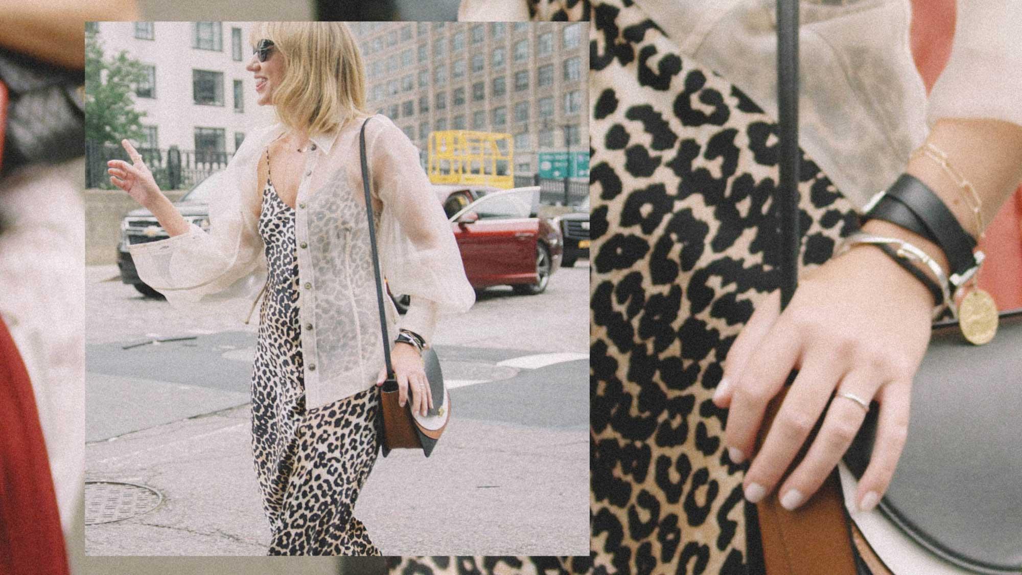 10 Easy Ways to Pull Off Leopard Print, leaopard print slip dress, Lisa Aiken street style.jpg