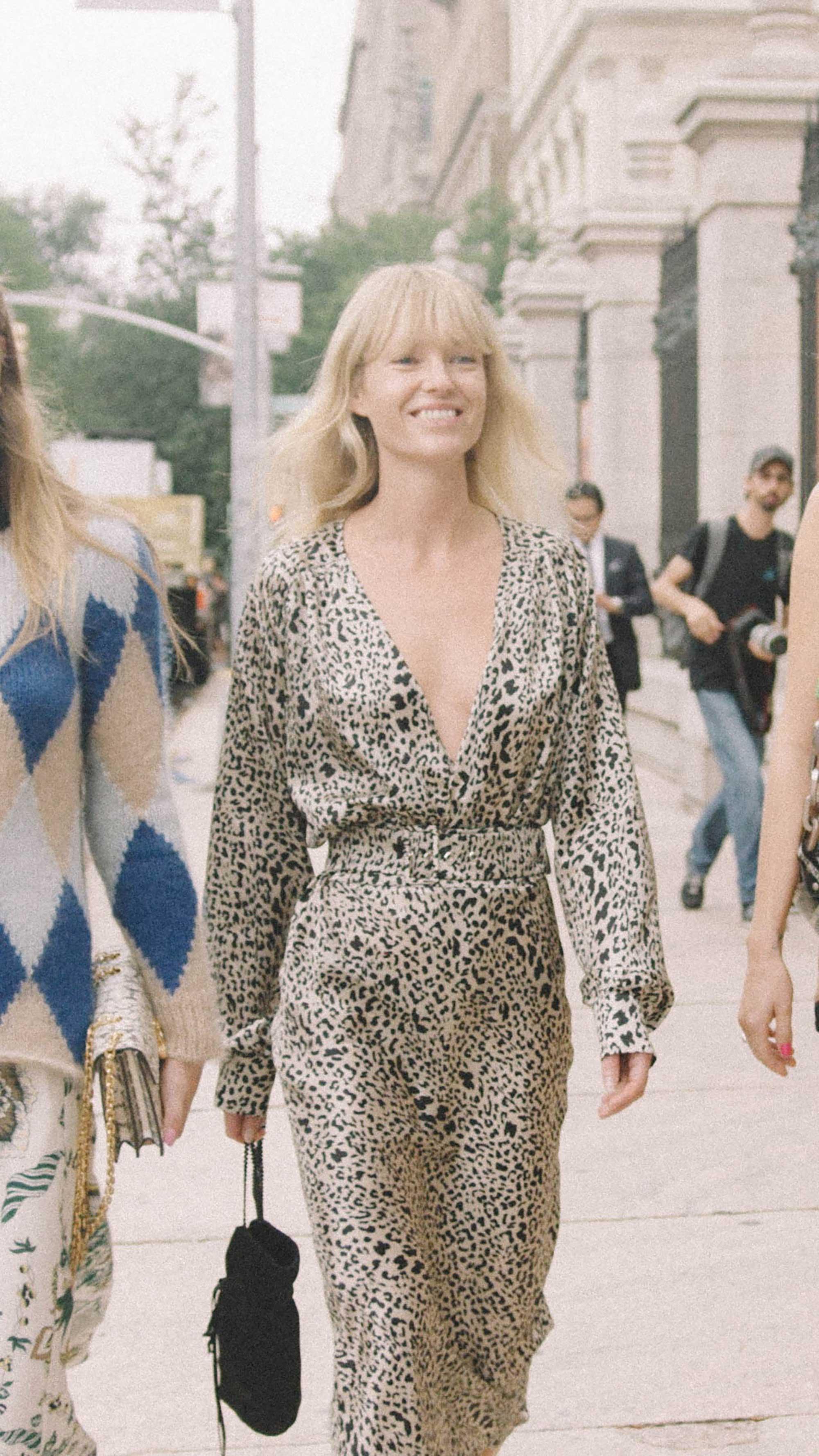 10 Easy Ways to Pull Off Animal Print, silk leopard dress street style 1.jpg