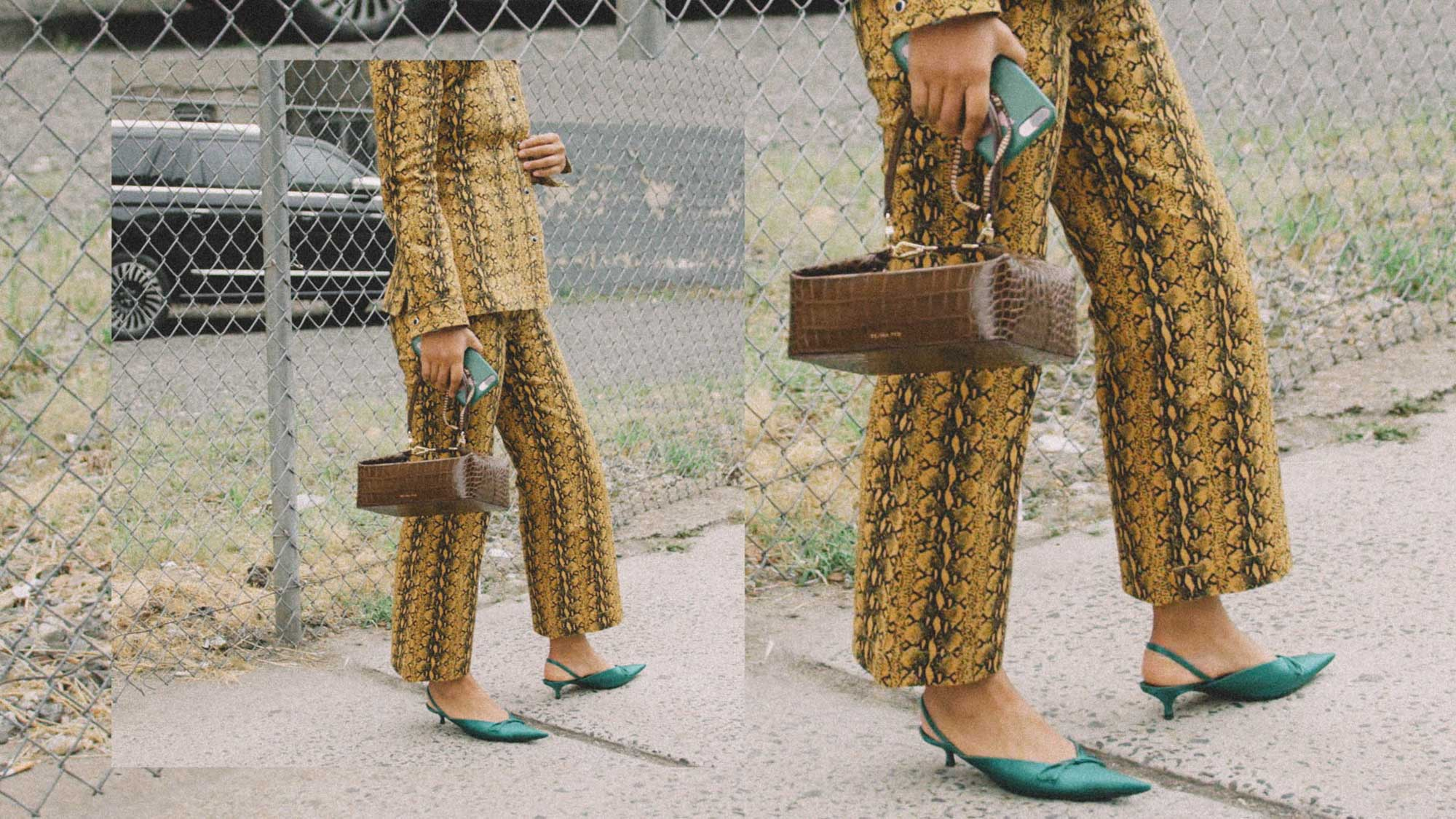 11 ways to wear snake print, snake print suit street style 1.jpg
