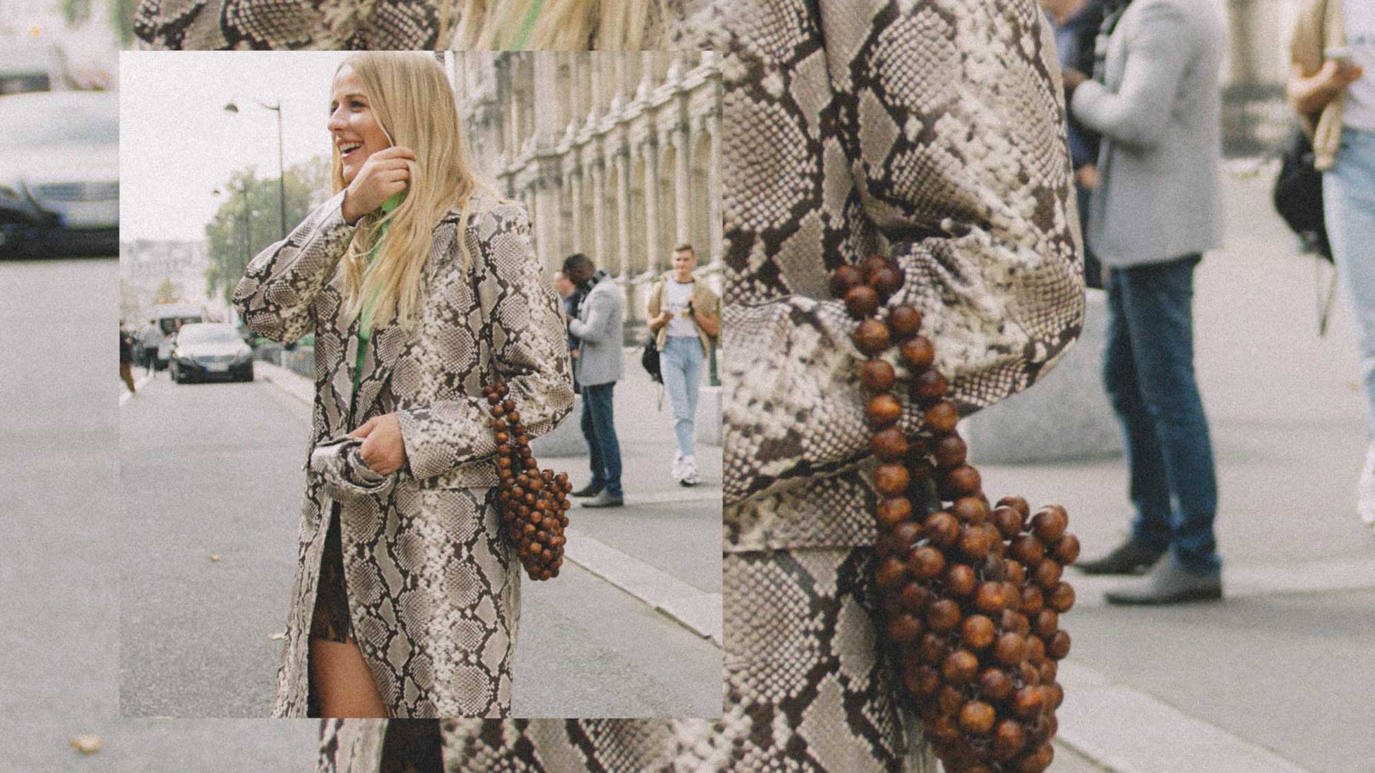 11 ways to wear snake print, snake print coat street style paris 1.jpg
