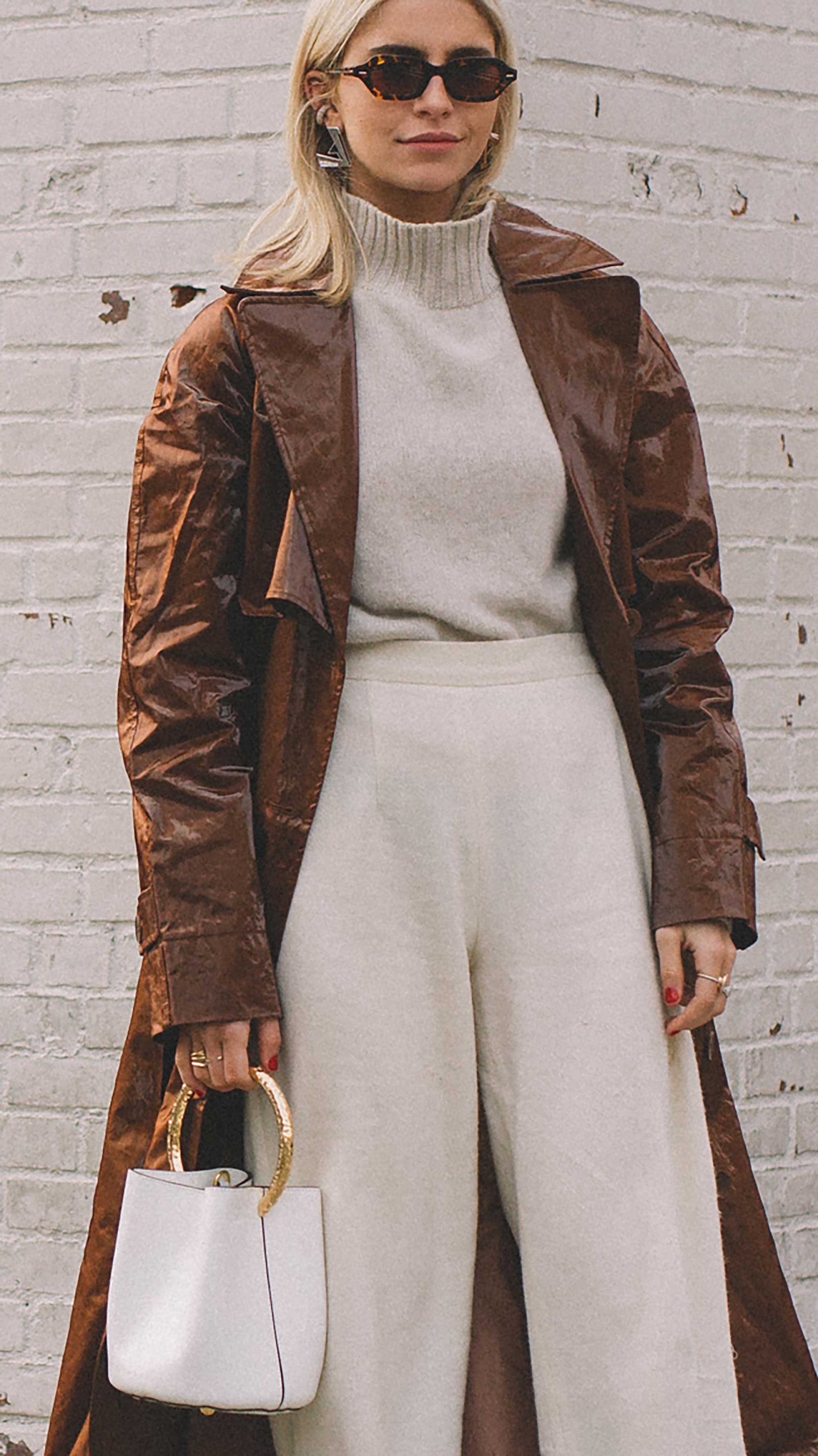 The Tibi Brown Trench Coat every blogger is wearing at NYFW3.jpg