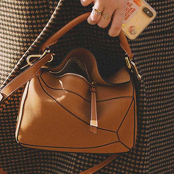 LOEWE Puzzle small textured-leather shoulder bag.jpg