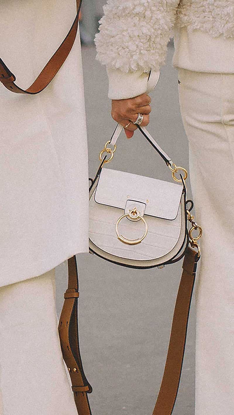 1. Chloe - Tess small leather and suede shoulder bag