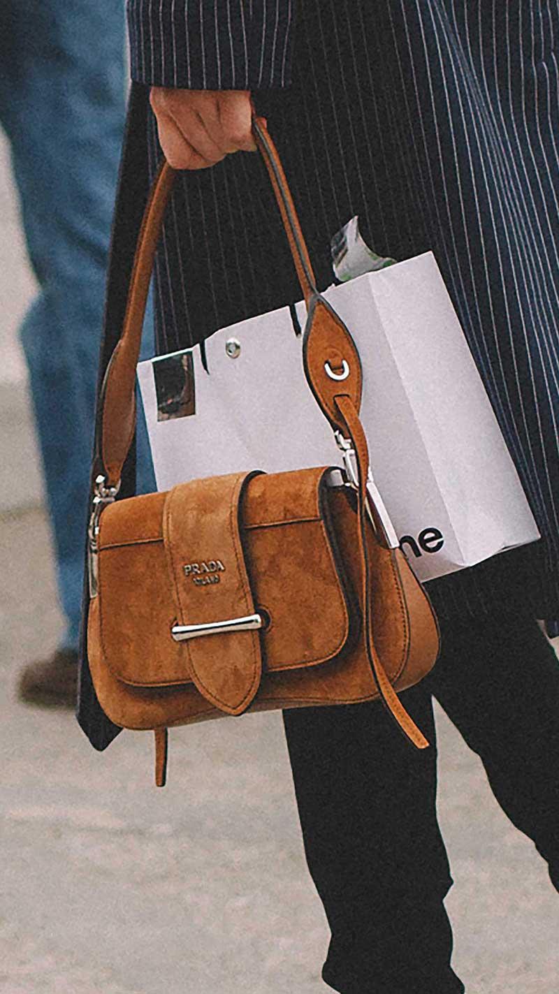 3. Prada - Sidonie leather shoulder bag