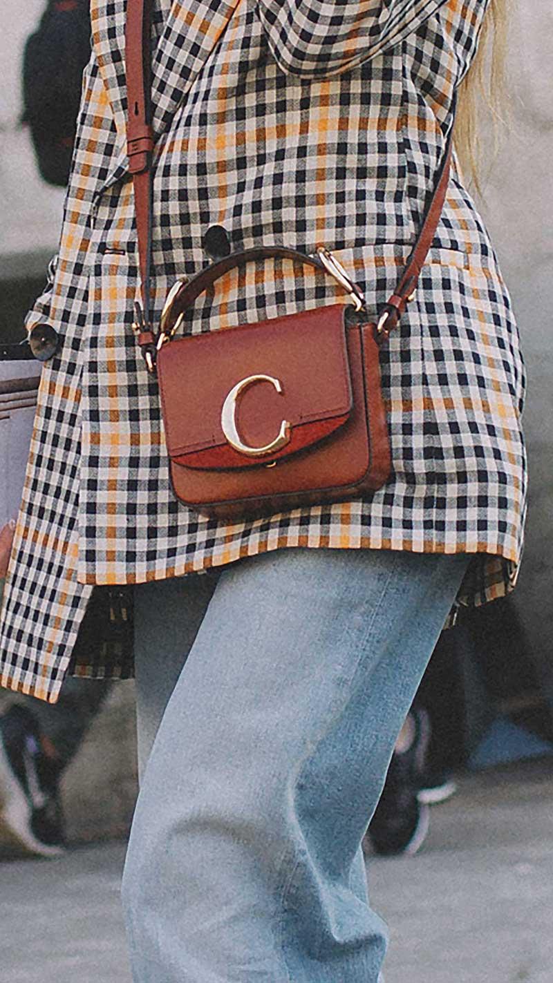 6. Chloe - Mini c leather satchel
