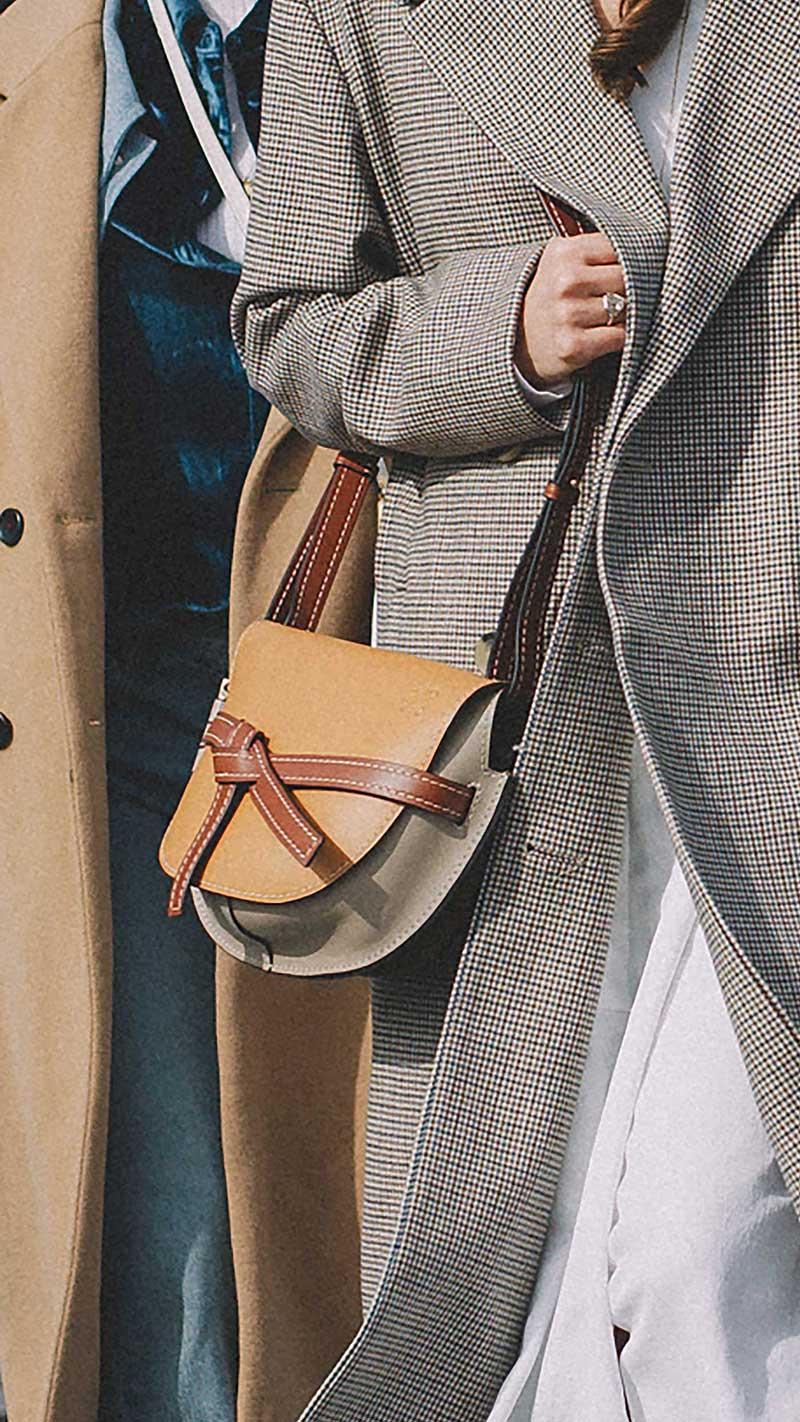 8. Loewe - Small gate leather crossbody bag